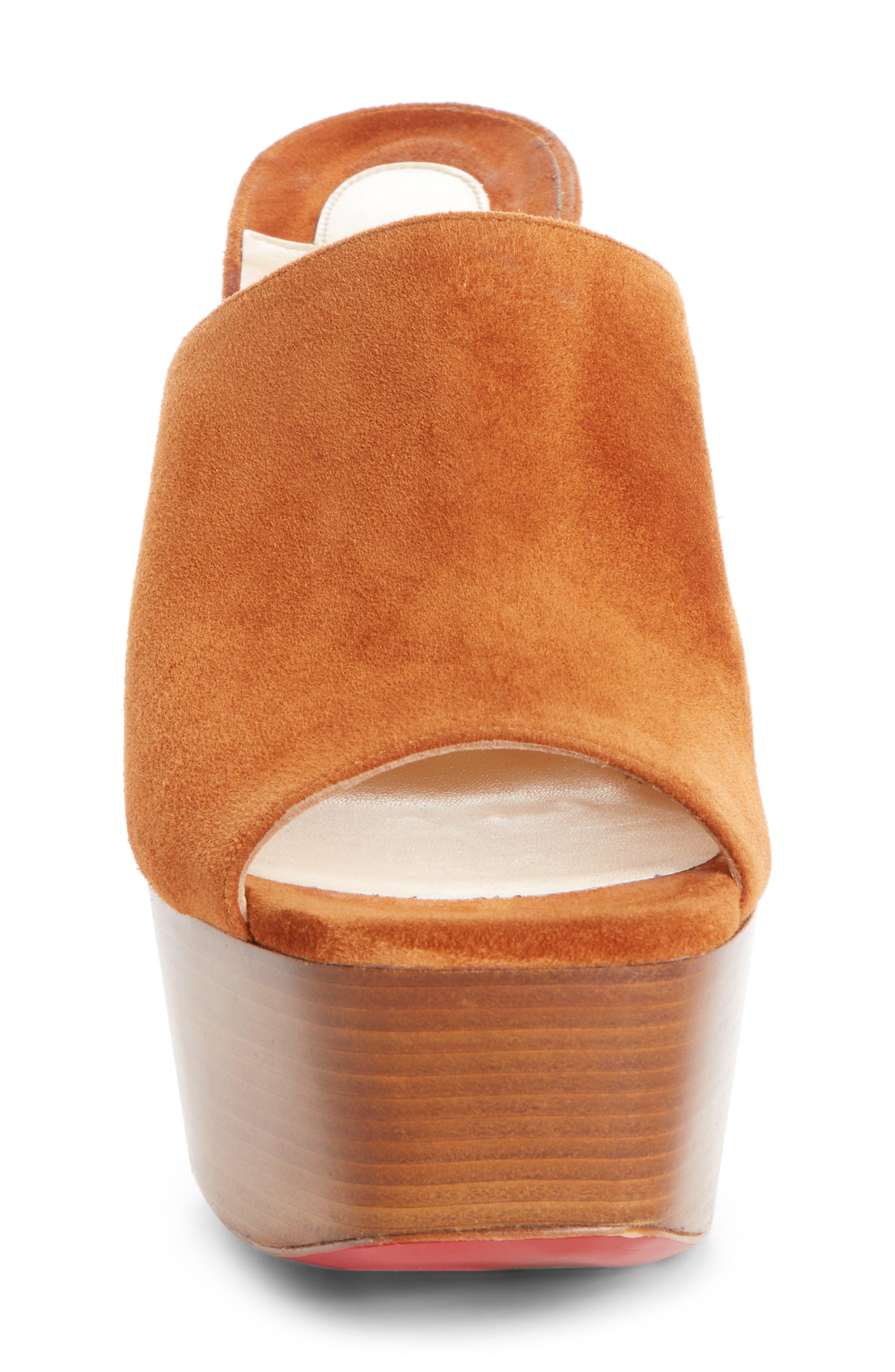 Alternate Image 5  - Christian Louboutin Suede Platform Mule Sandal (Women)