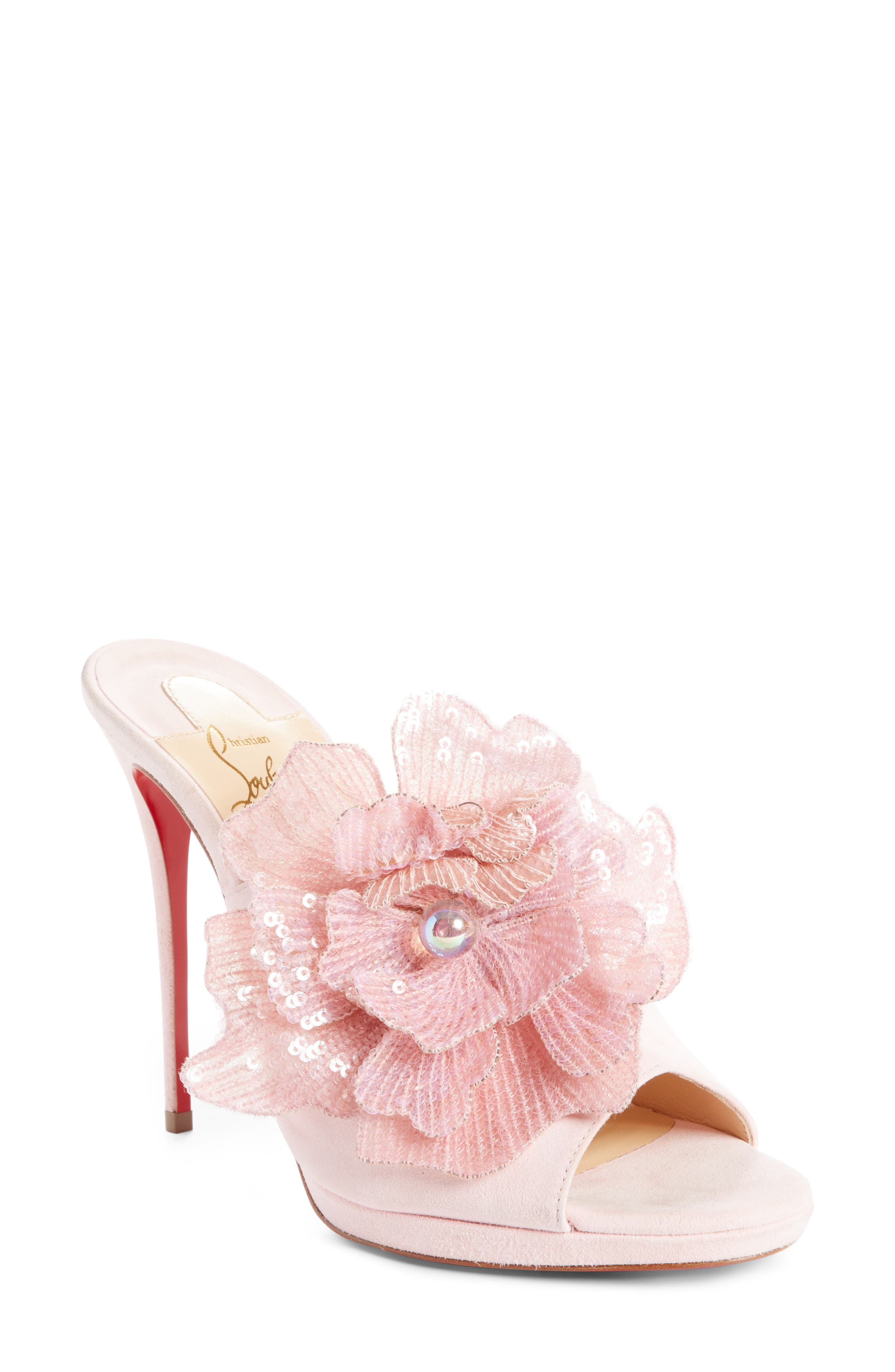 Alternate Image 1 Selected - Christian Louboutin Submuline Sequin Flower Mule (Women)