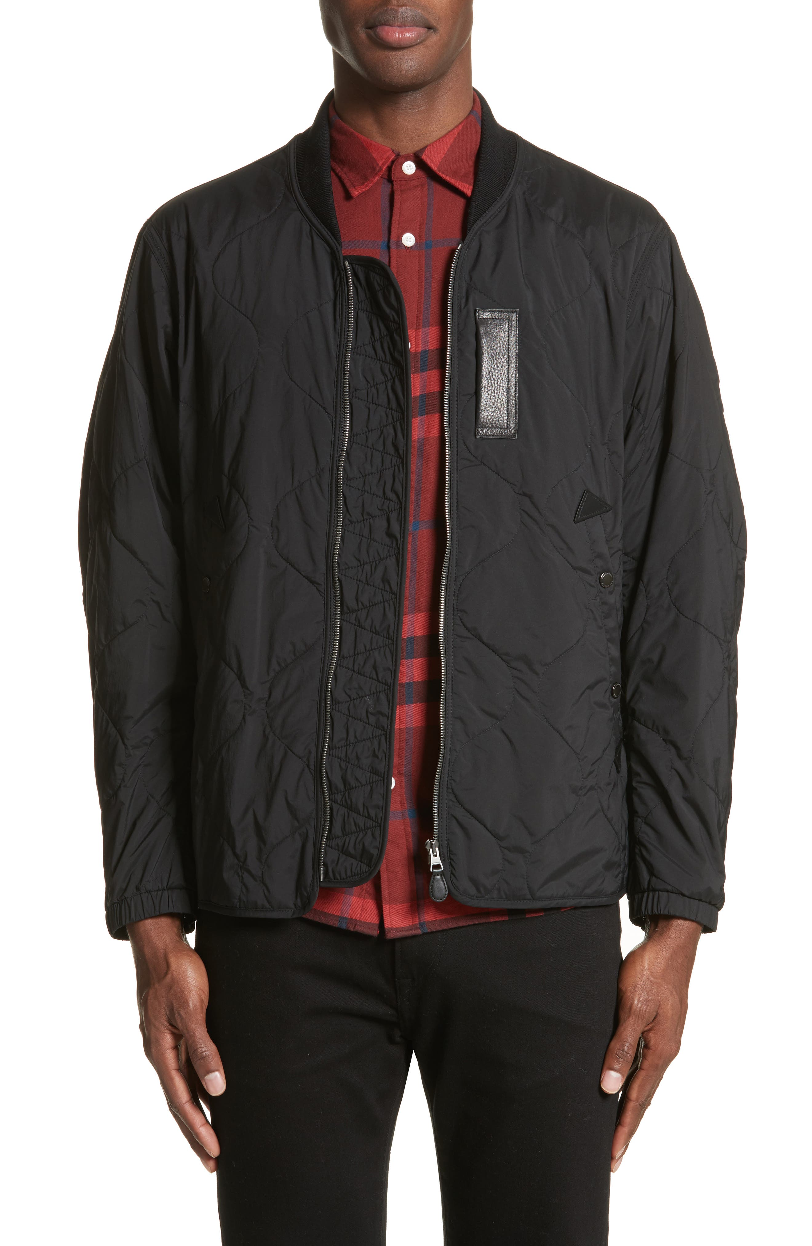 Main Image - Burberry Marshall Quilted Tech Bomber Jacket