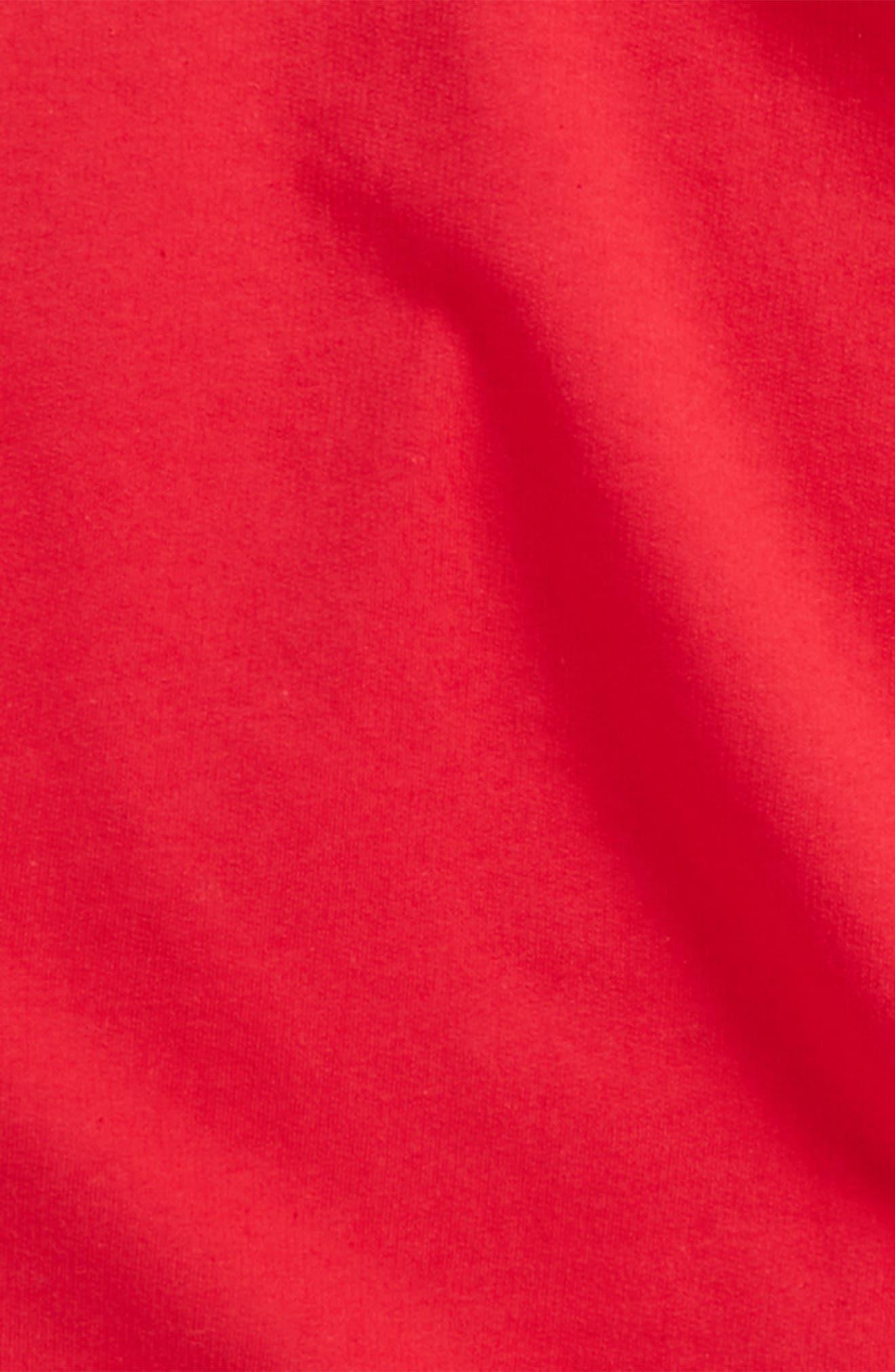 Stripe Trim Sweatshirt,                             Alternate thumbnail 2, color,                             Red