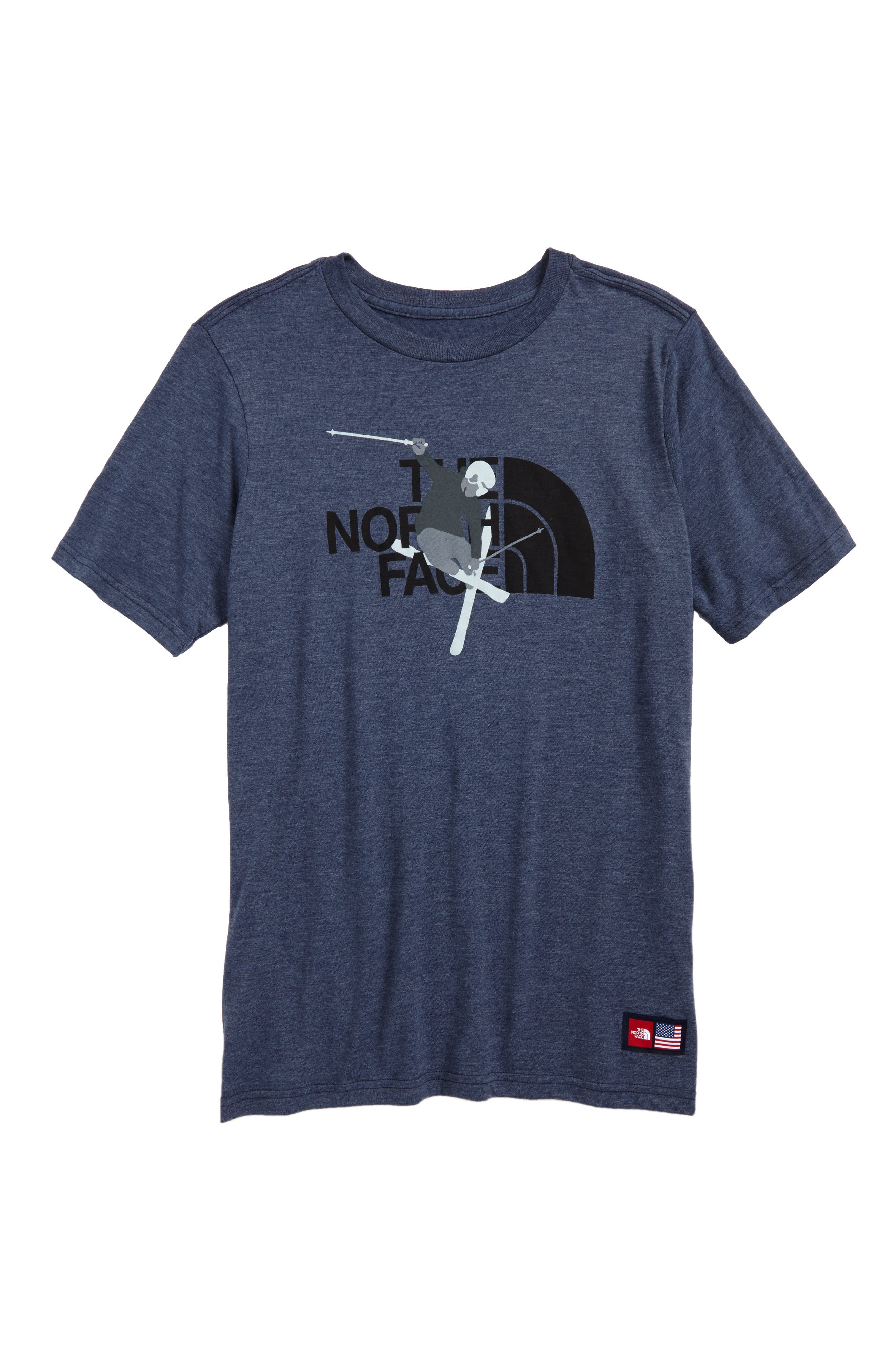 International Collection T-Shirt,                         Main,                         color, Cosmic Blue Heather