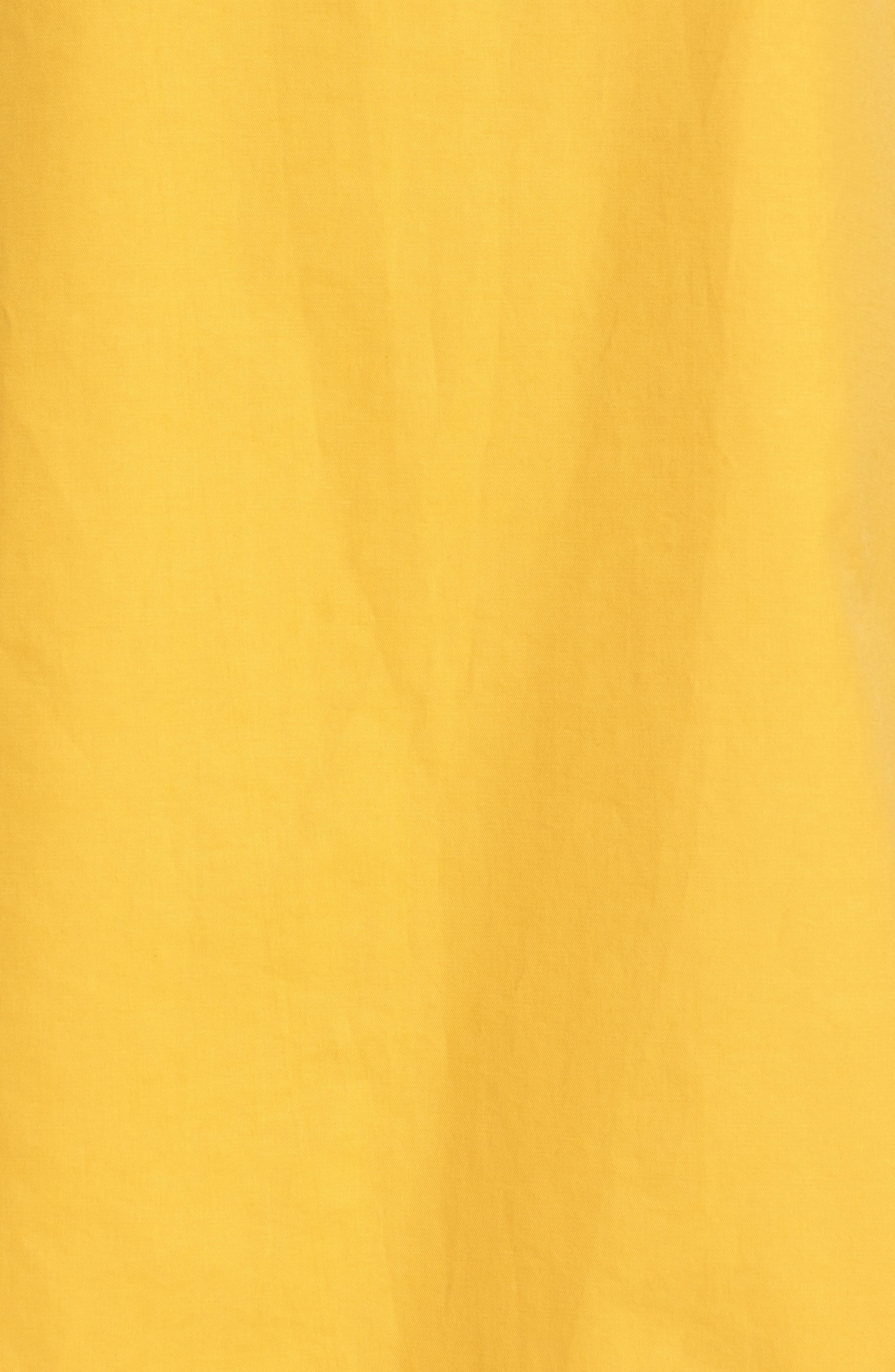 Parachute Sleeve Shift Dress,                             Alternate thumbnail 5, color,                             Yellow Mineral