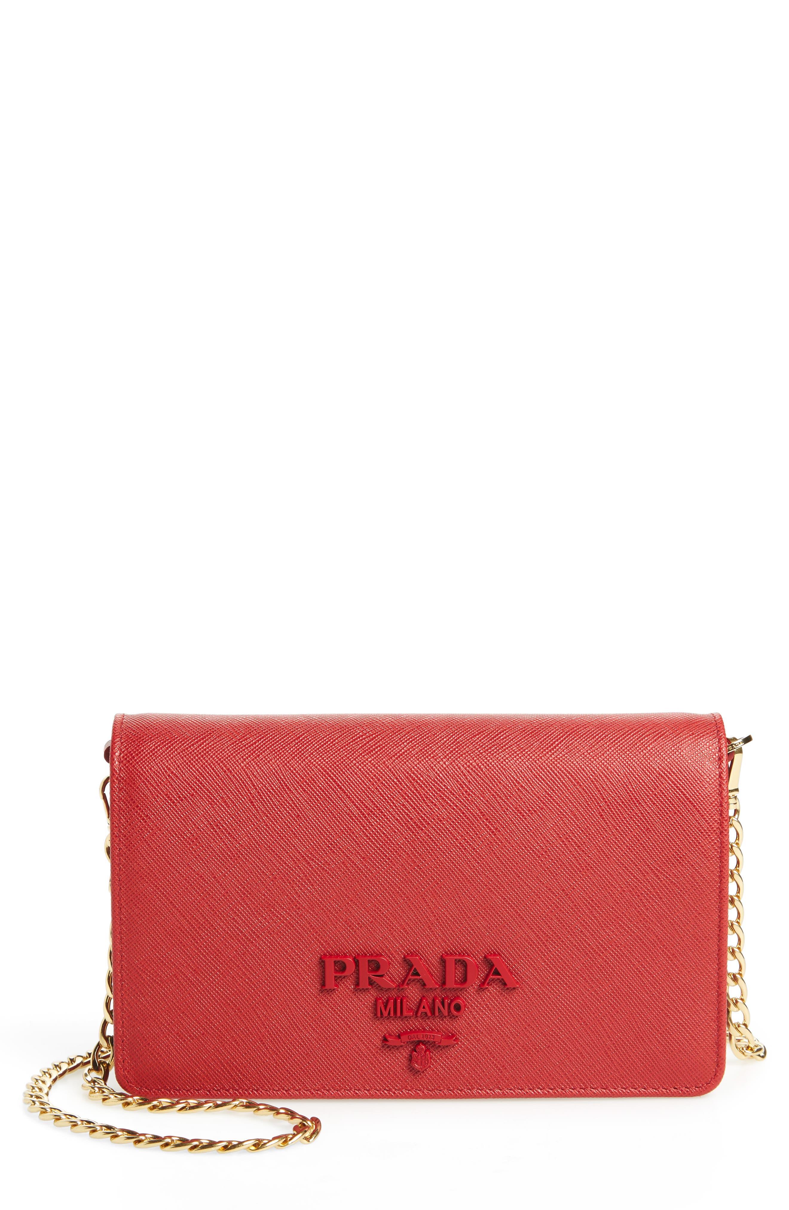 Main Image - Prada Small Monochrome Crossbody Bag