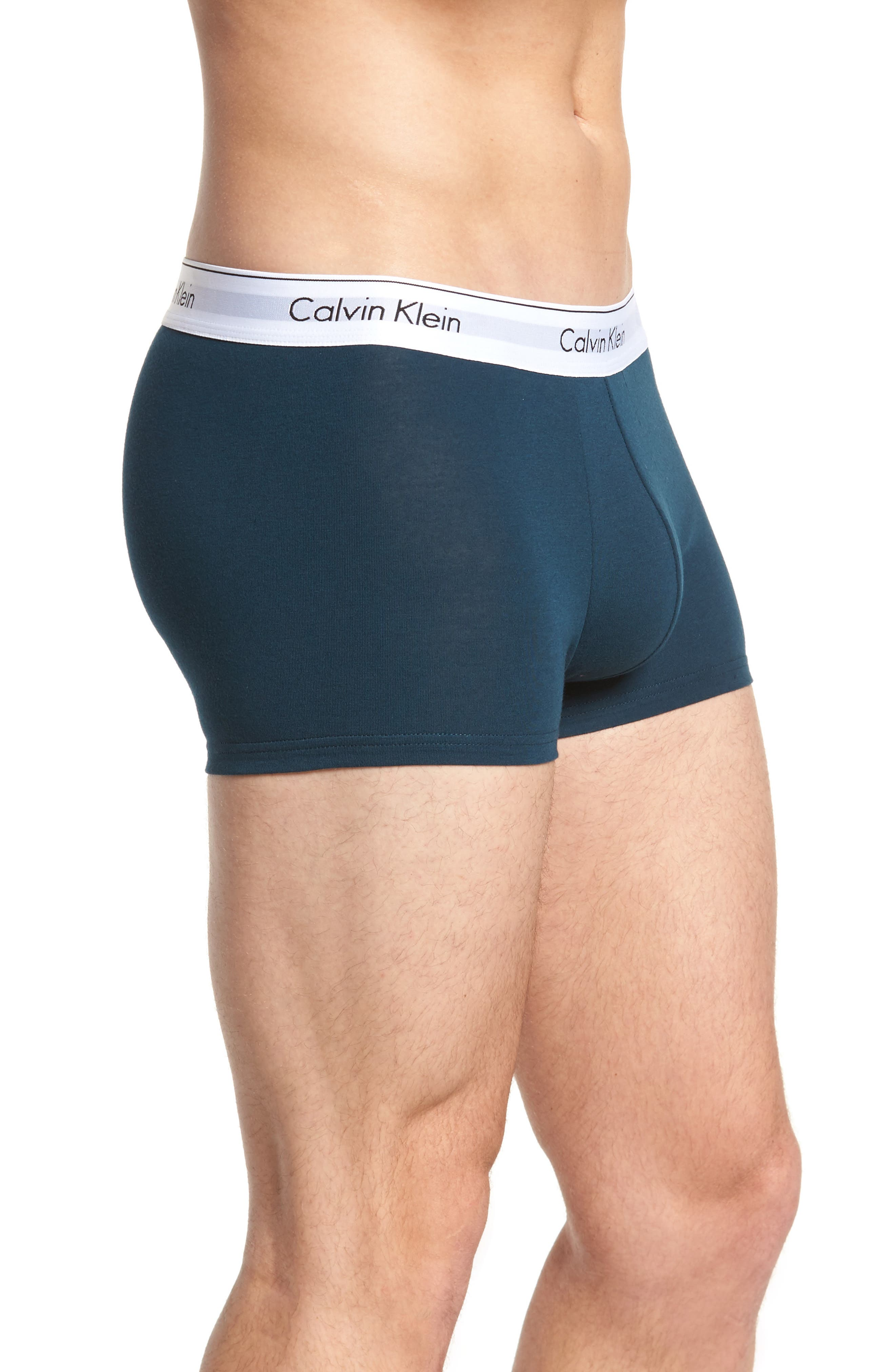 Assorted 2-Pack Stretch Cotton Trunks,                             Alternate thumbnail 4, color,                             Spellbound/ Black