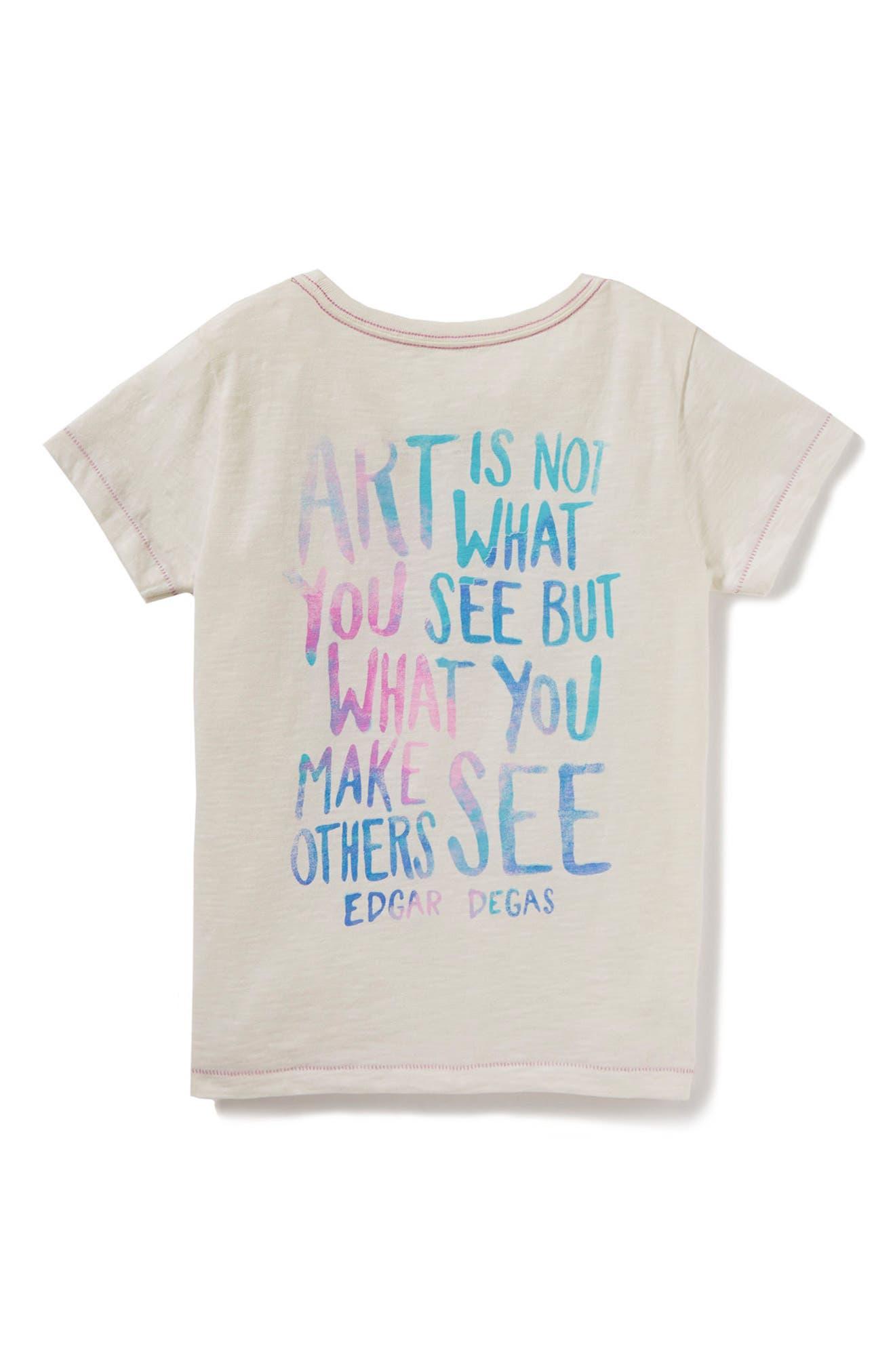 Alternate Image 2  - Peek Art is Not Graphic Tee (Toddler Girls, Little Girls & Big Girls)