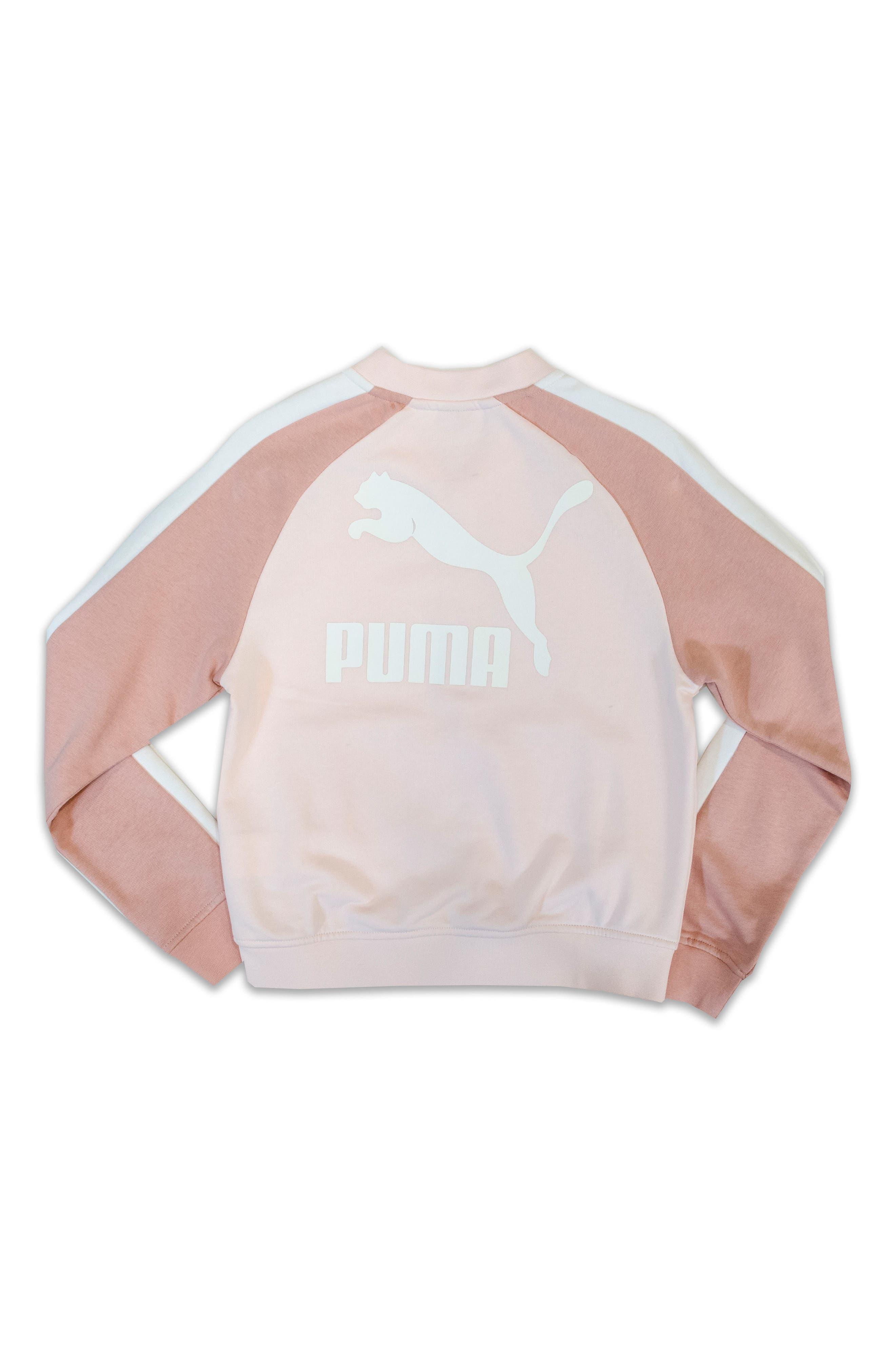 Alternate Image 2  - PUMA T7 Logo French Terry Track Jacket (Big Girls)