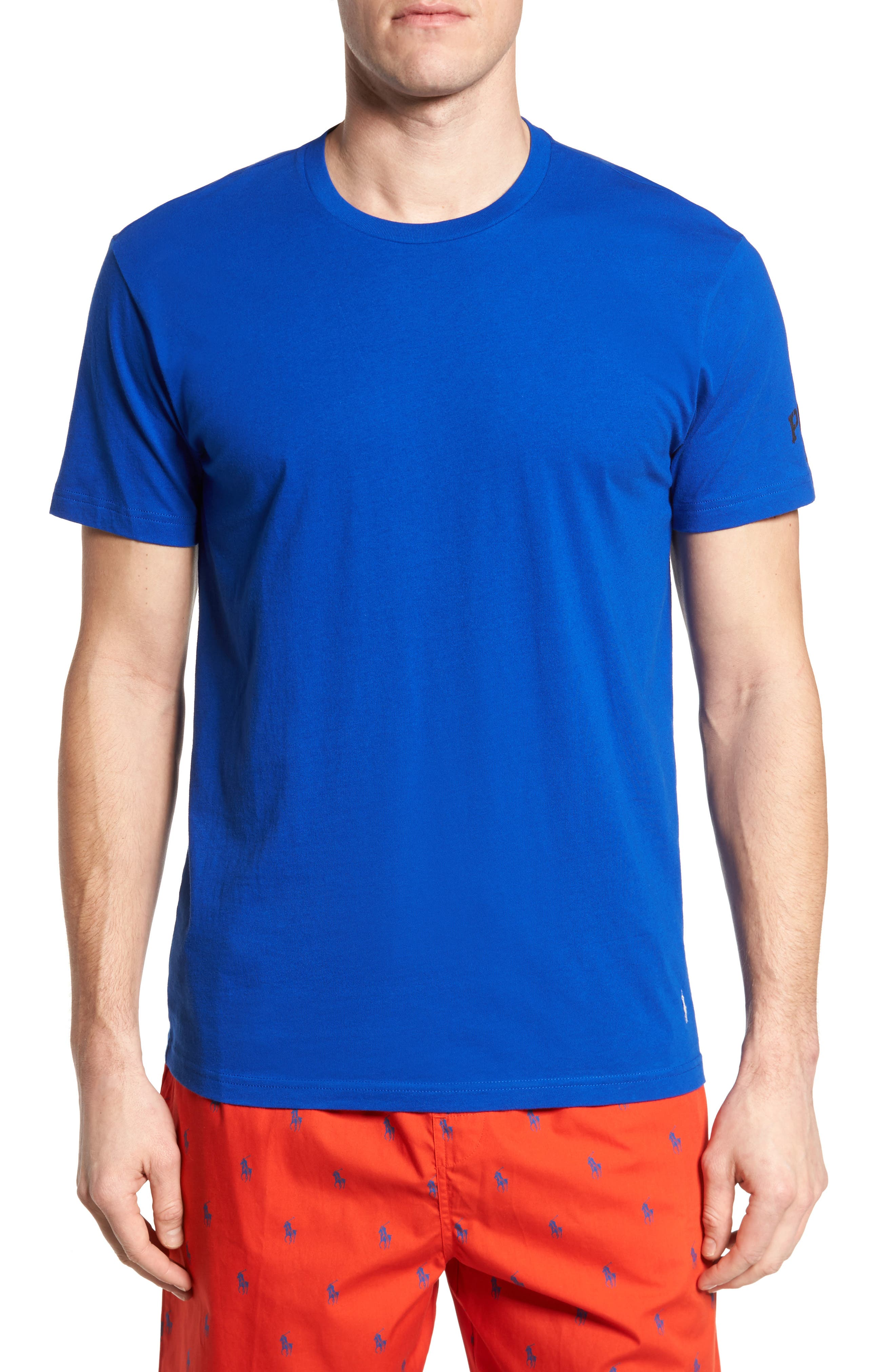 Polo Ralph Lauren Crewneck T-Shirt,                         Main,                         color, Sapphire Star/ Crescent Cream