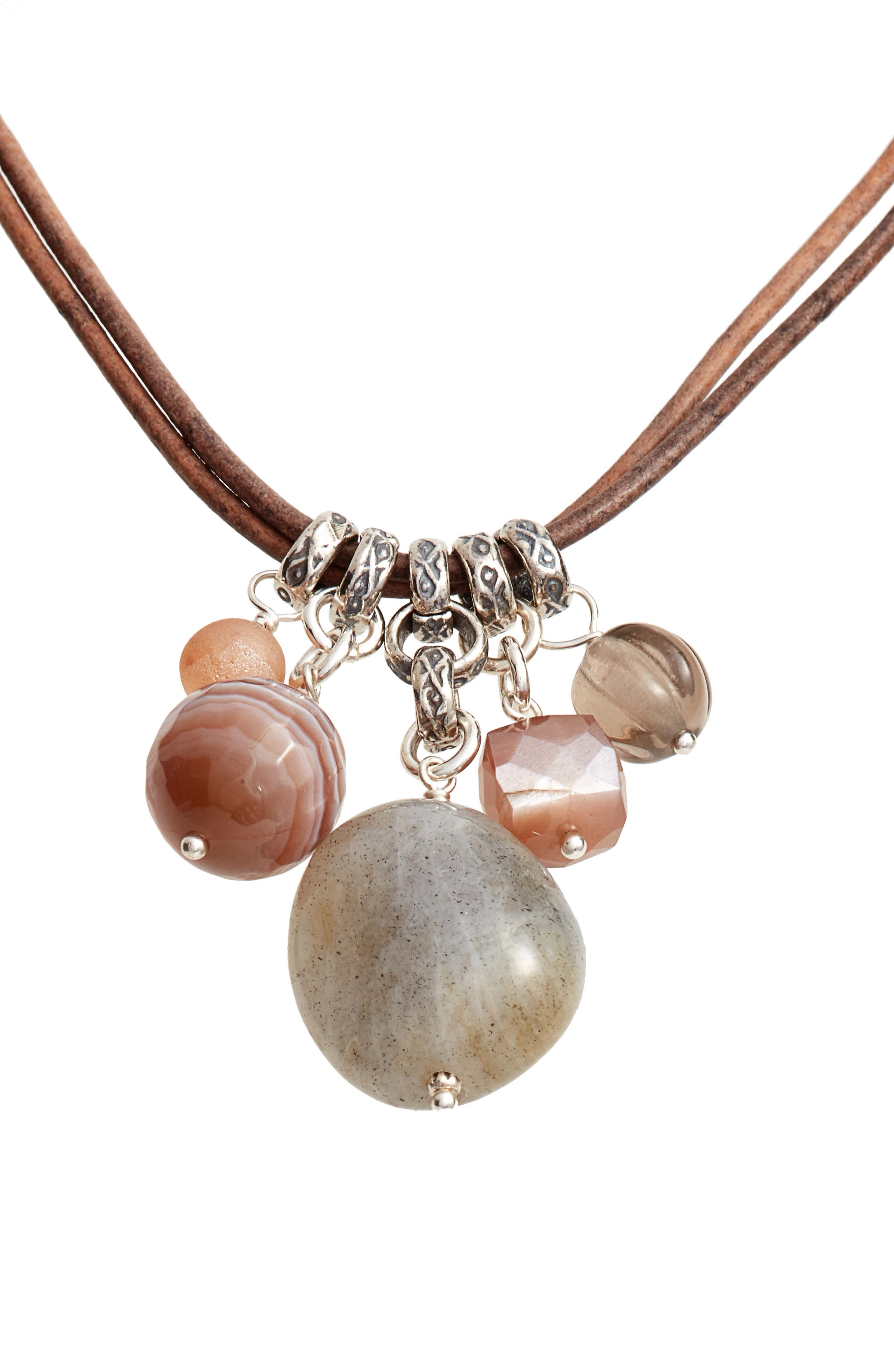 Alternate Image 1 Selected - Chan Luu Multistone Short Necklace