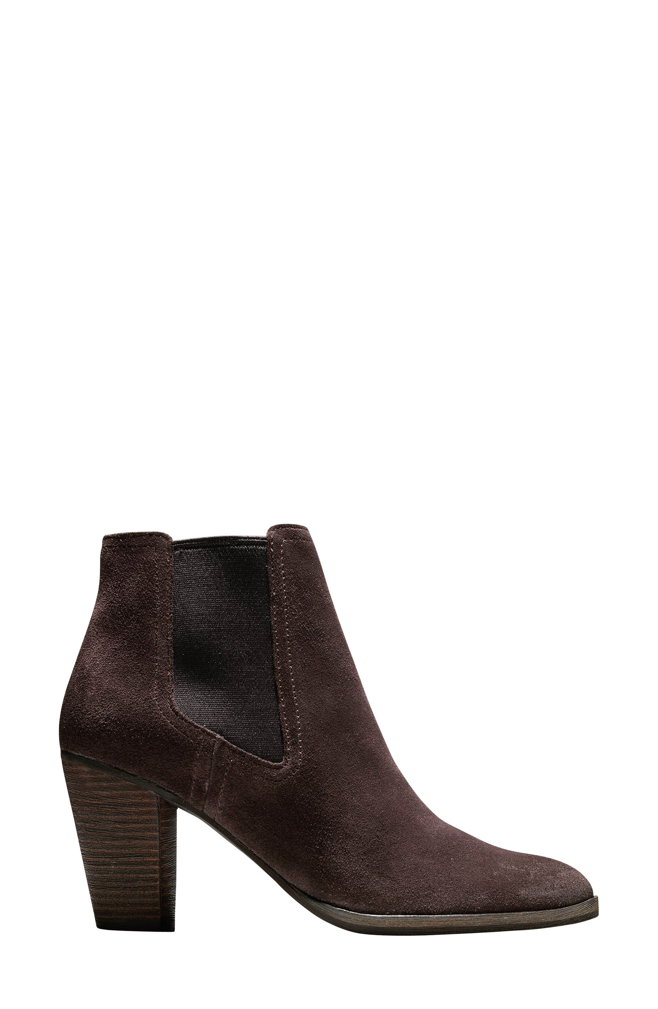 Hayes Chelsea Boot,                             Alternate thumbnail 3, color,                             Java Suede