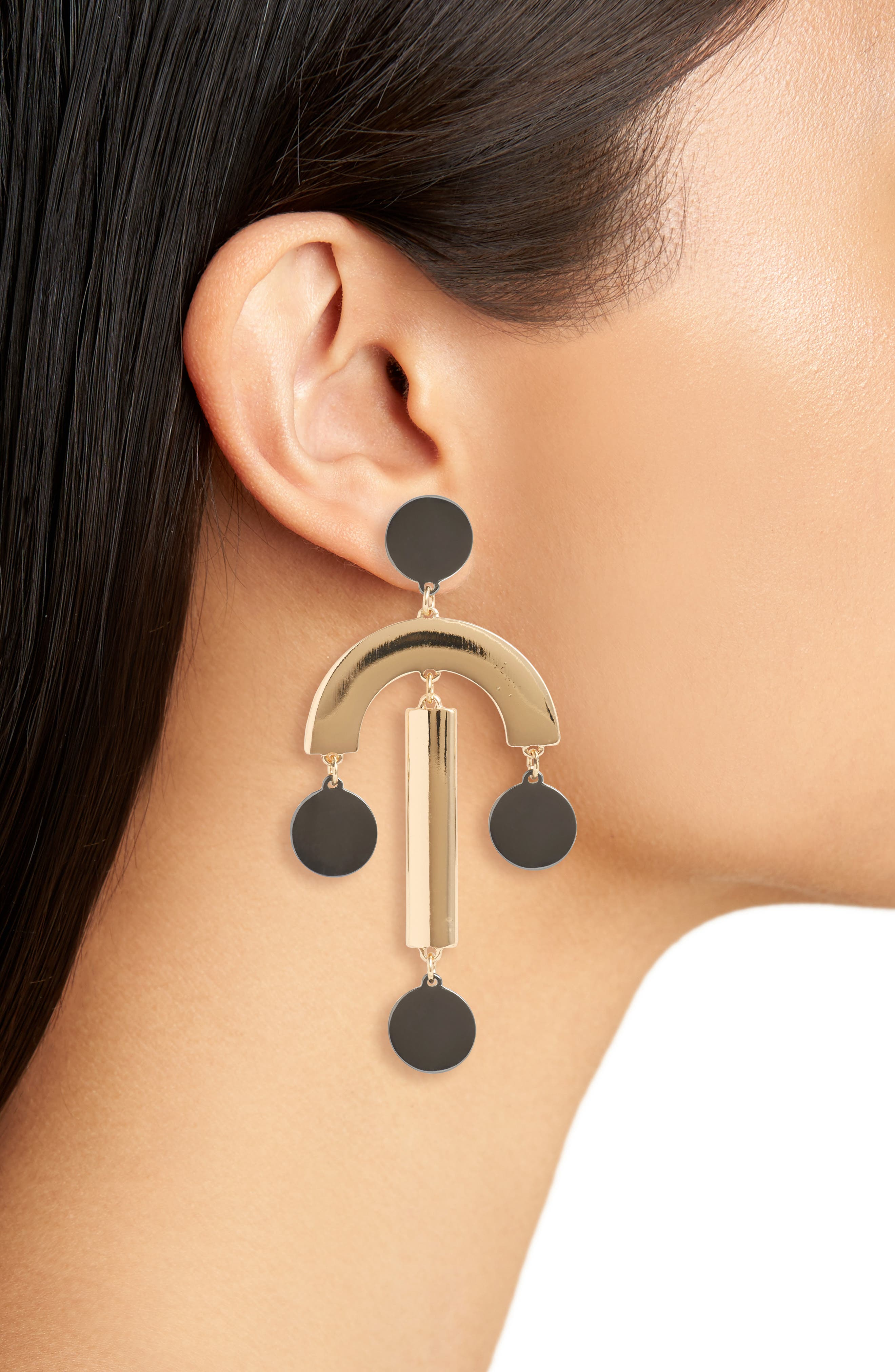 Alternate Image 2  - Kitsch Geometric Statement Earrings