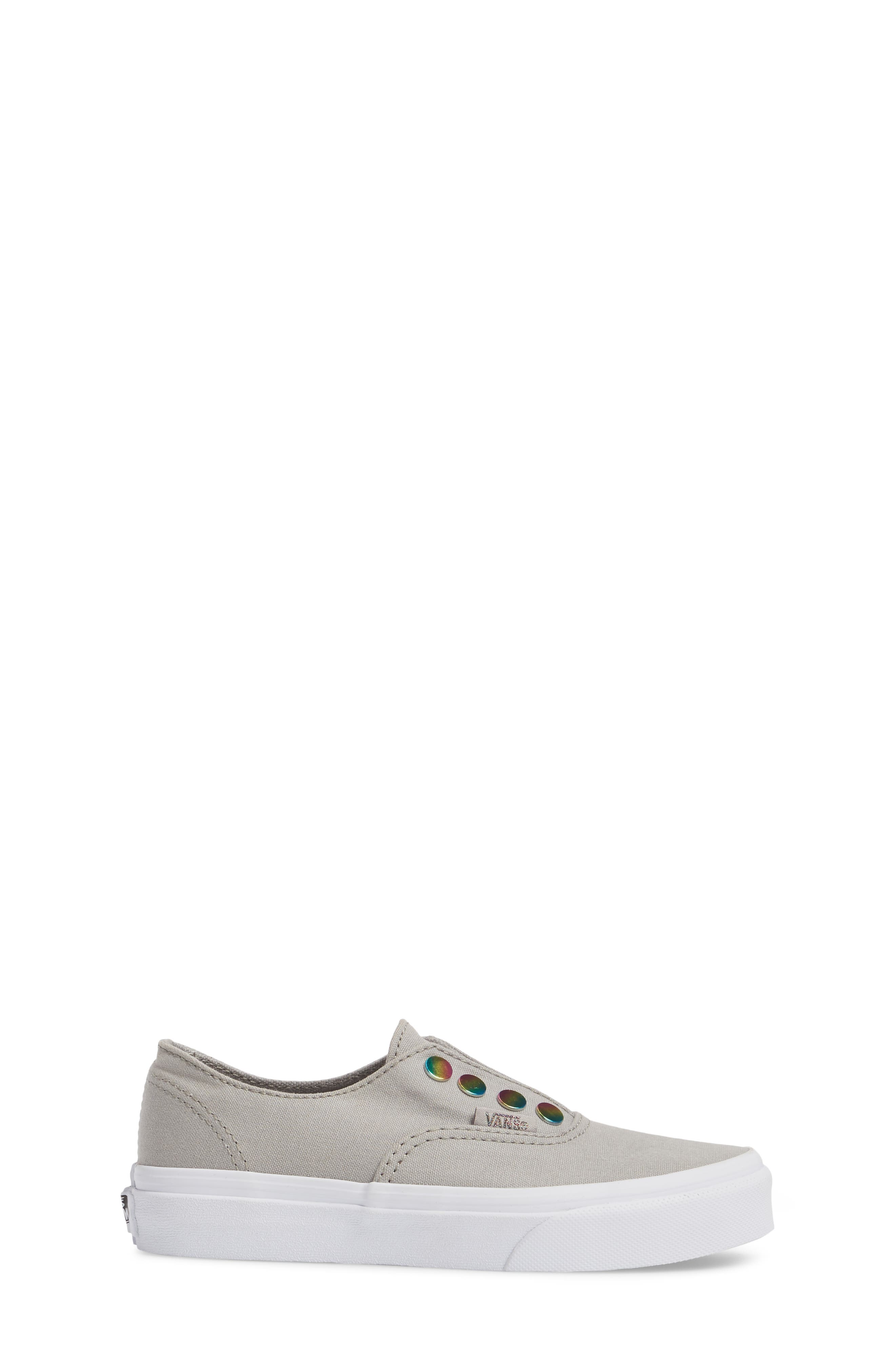 Authentic Gore Slip-On Sneaker,                             Alternate thumbnail 3, color,                             Drizzle/ Rainbow Eyelet