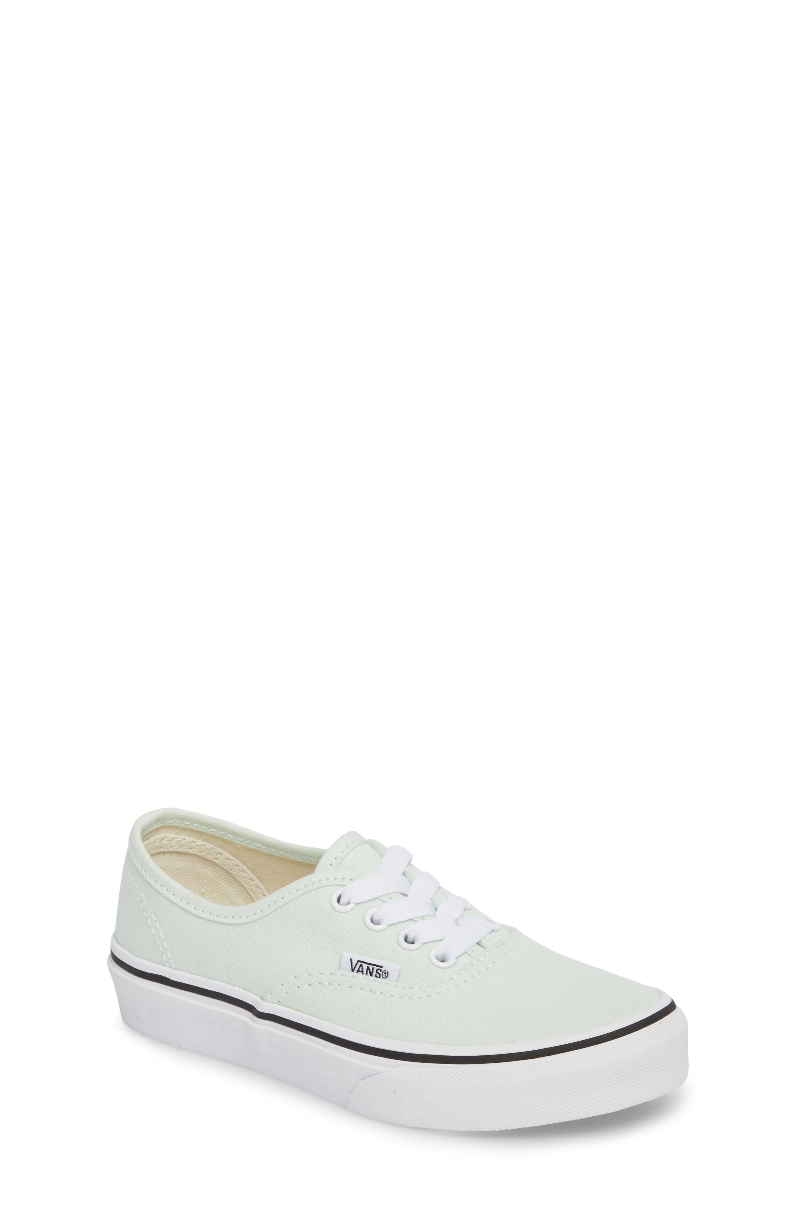 Authentic Sneaker,                             Main thumbnail 1, color,                             Aqua Glass/ True White