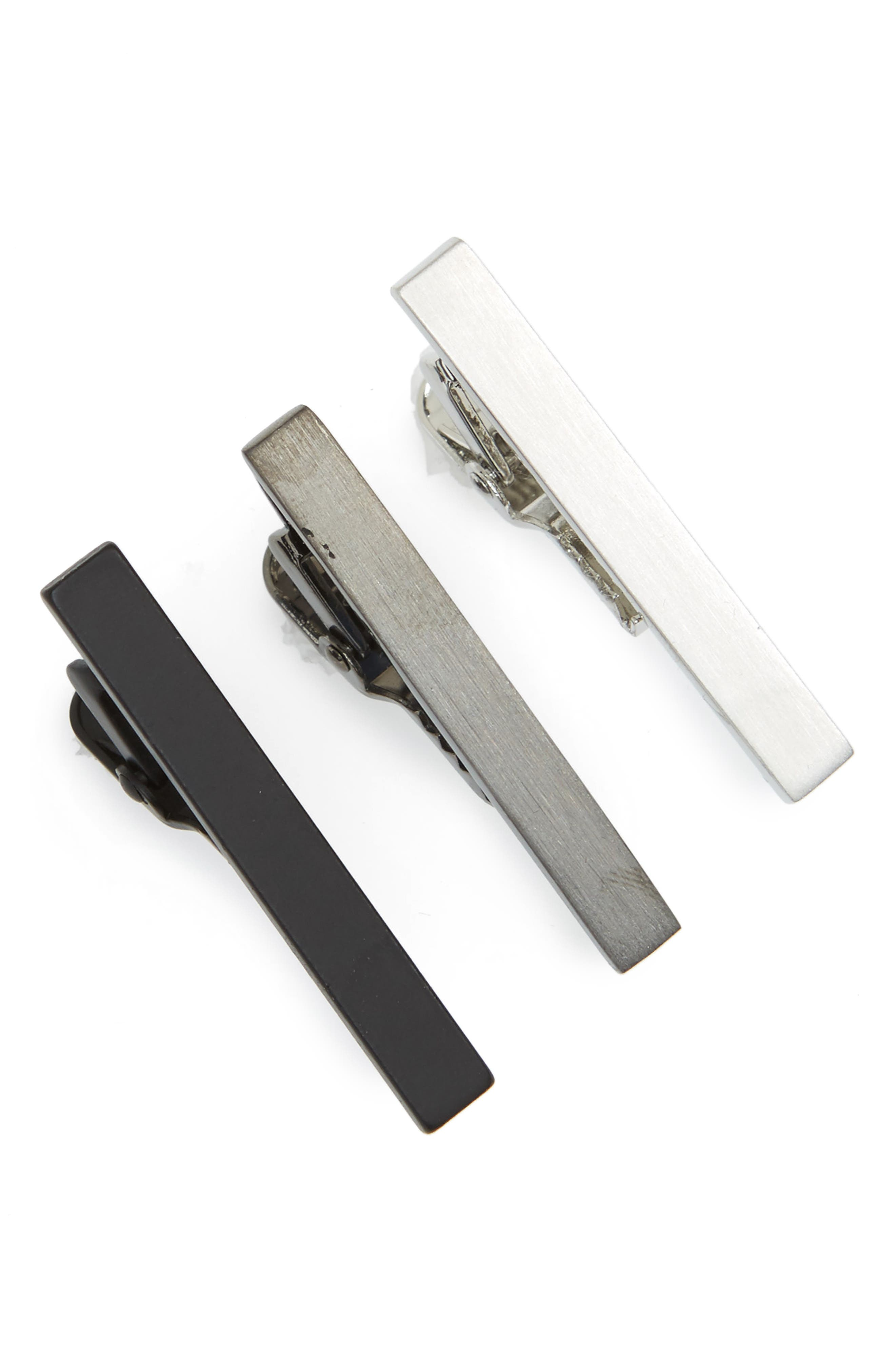 Nordstrom Men's Shop 3-Pack Tie Bar Set