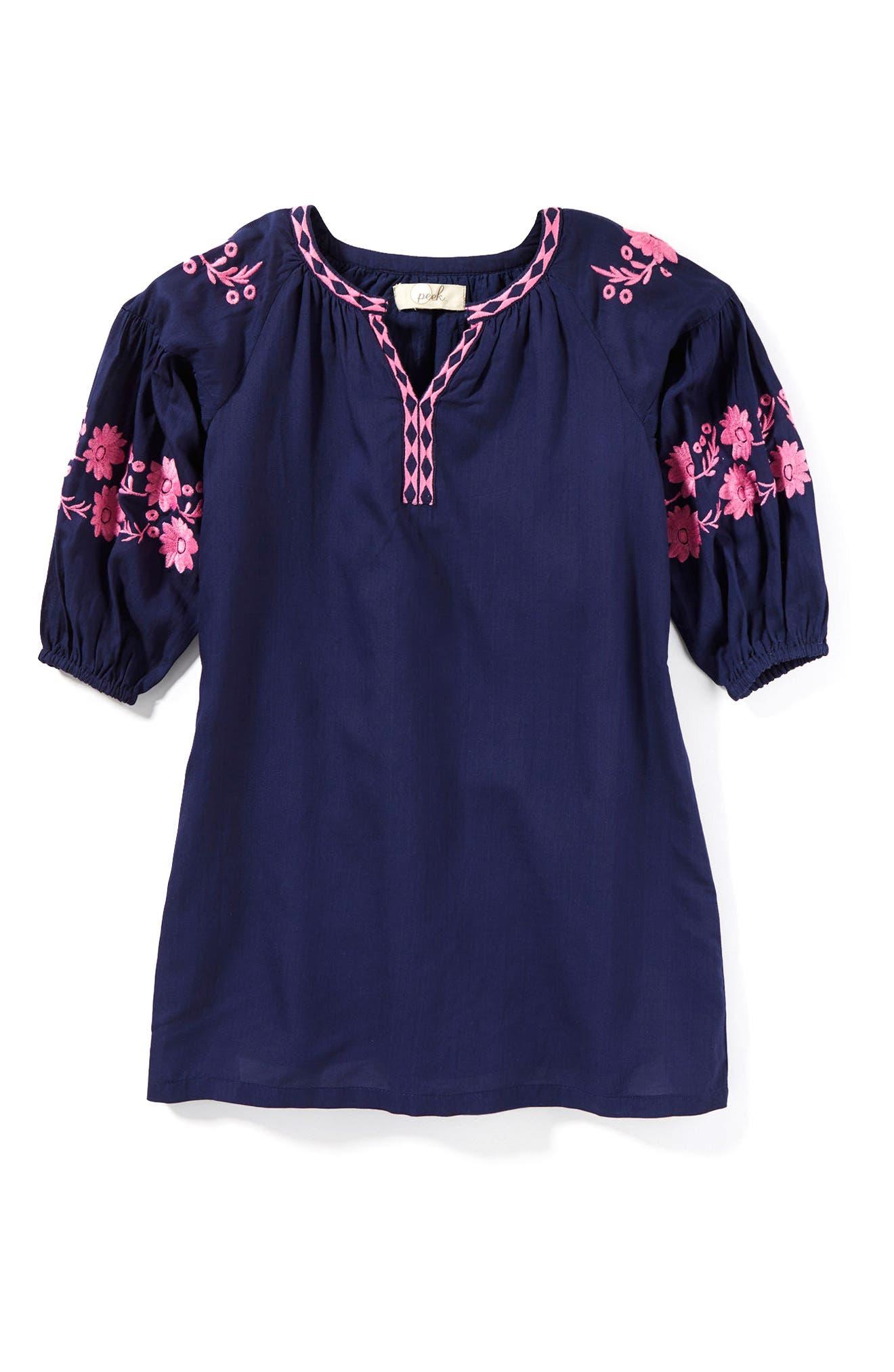 Main Image - Peek Lidia Embroidered Dress (Toddler Girls, Little Girls & Big Girls)