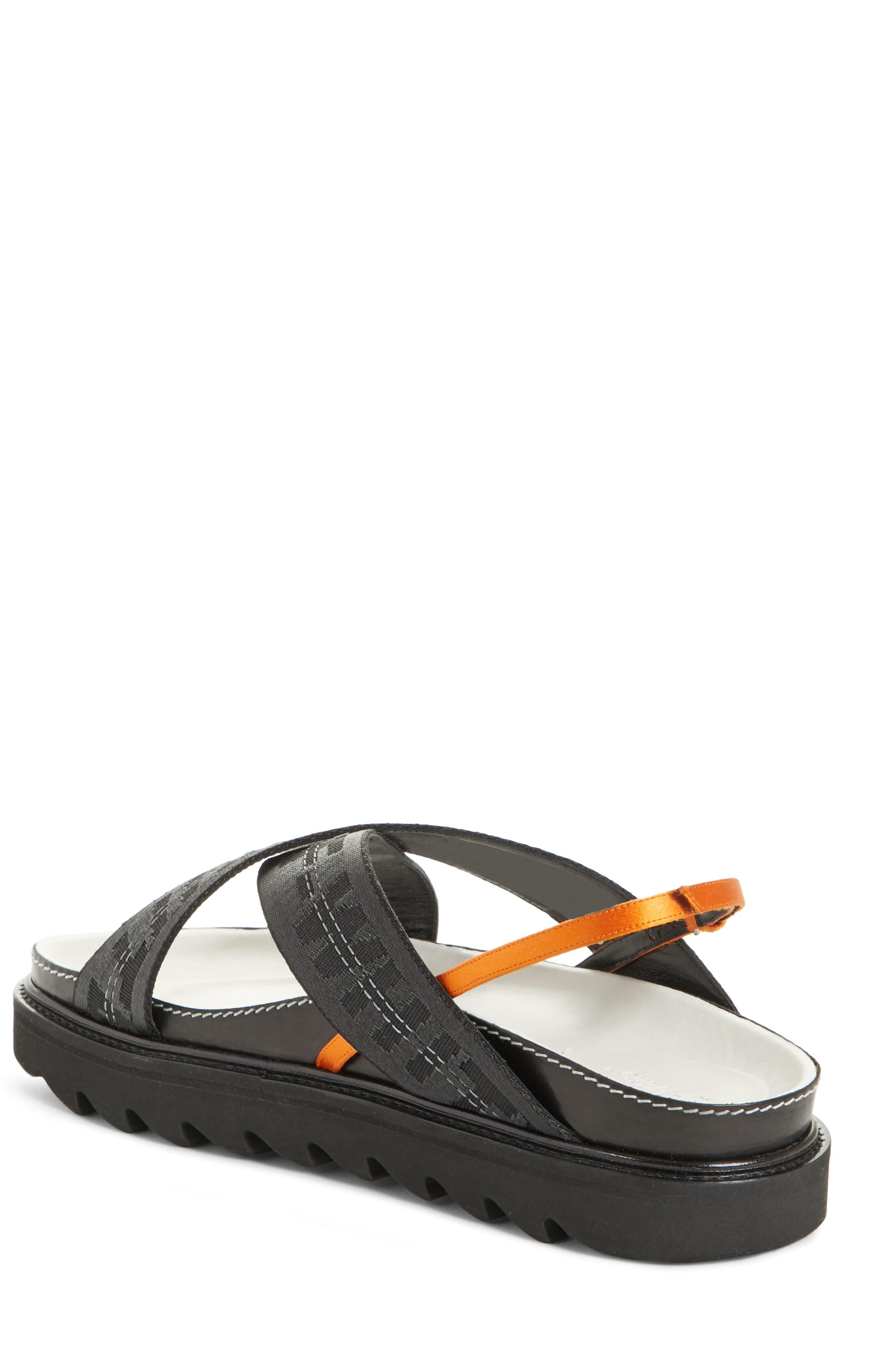Industrial Belt Sandal,                             Alternate thumbnail 2, color,                             Black Black