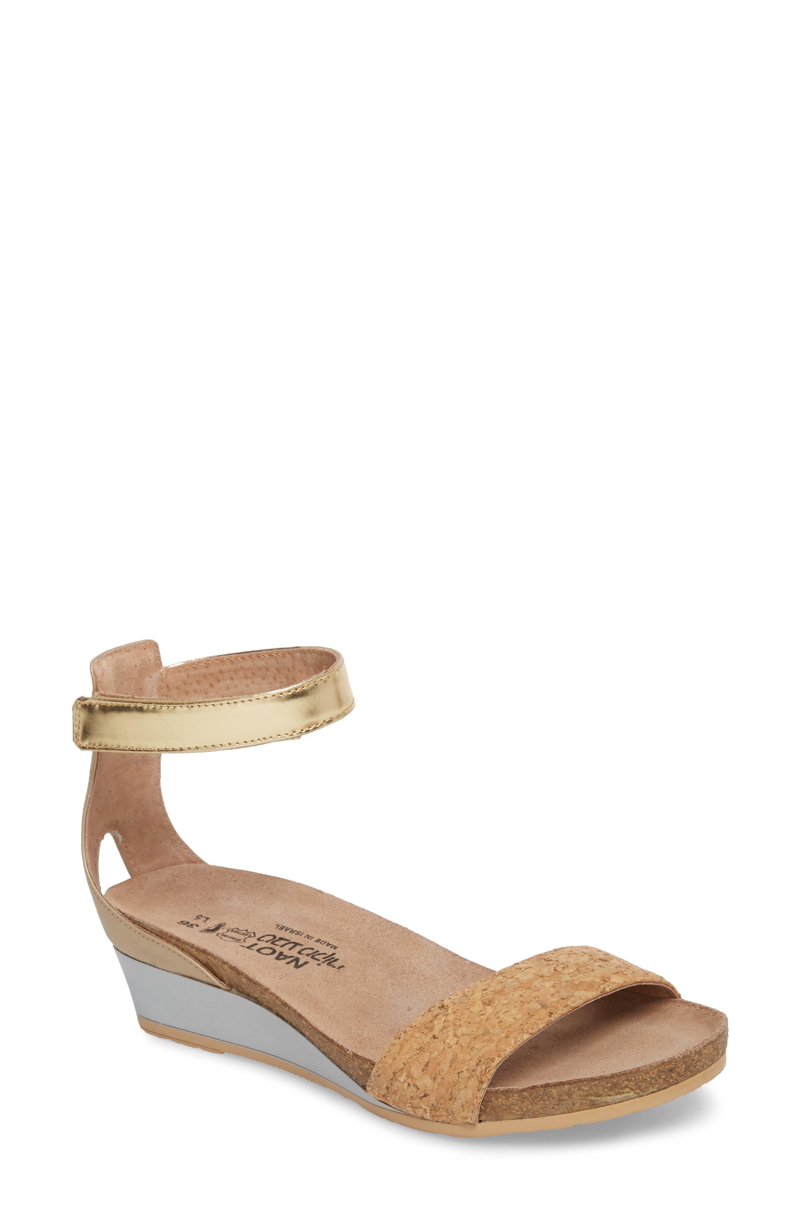 'Pixie' Sandal,                             Main thumbnail 1, color,                             Cork Leather