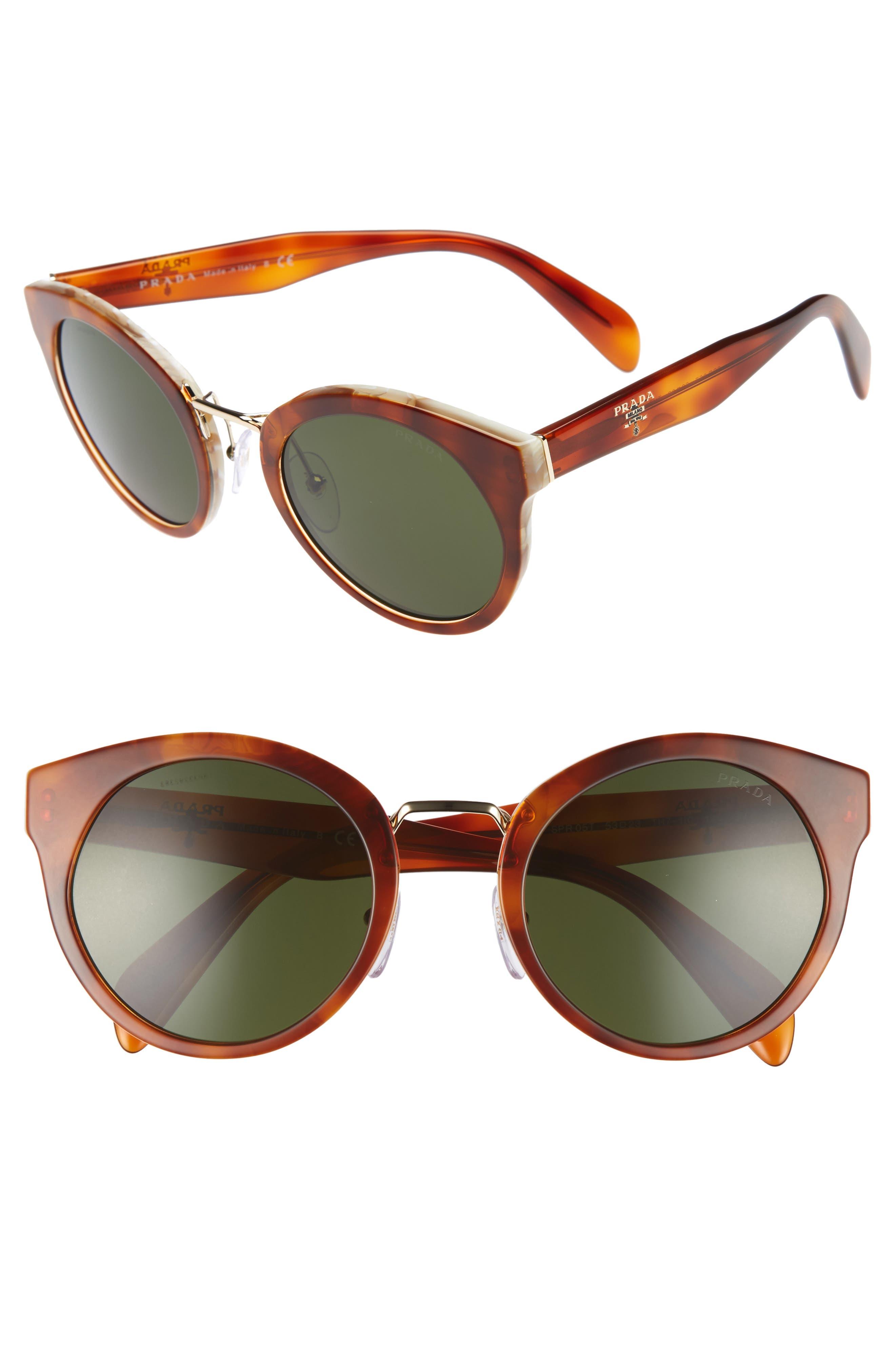 53mm Cat Eye Sunglasses,                         Main,                         color, Lite Havana