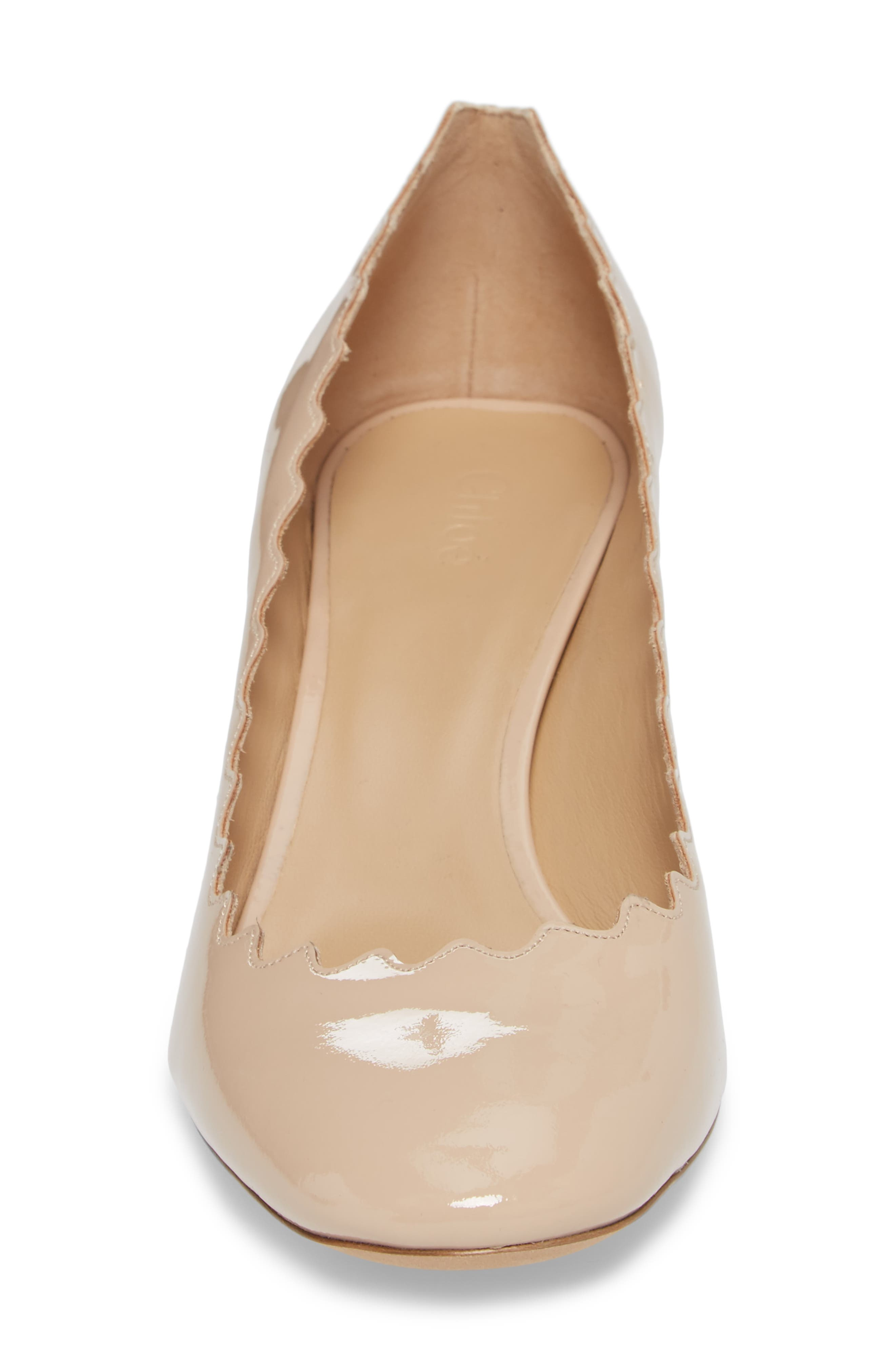 Lauren Pump,                             Alternate thumbnail 4, color,                             Mild Beige Patent