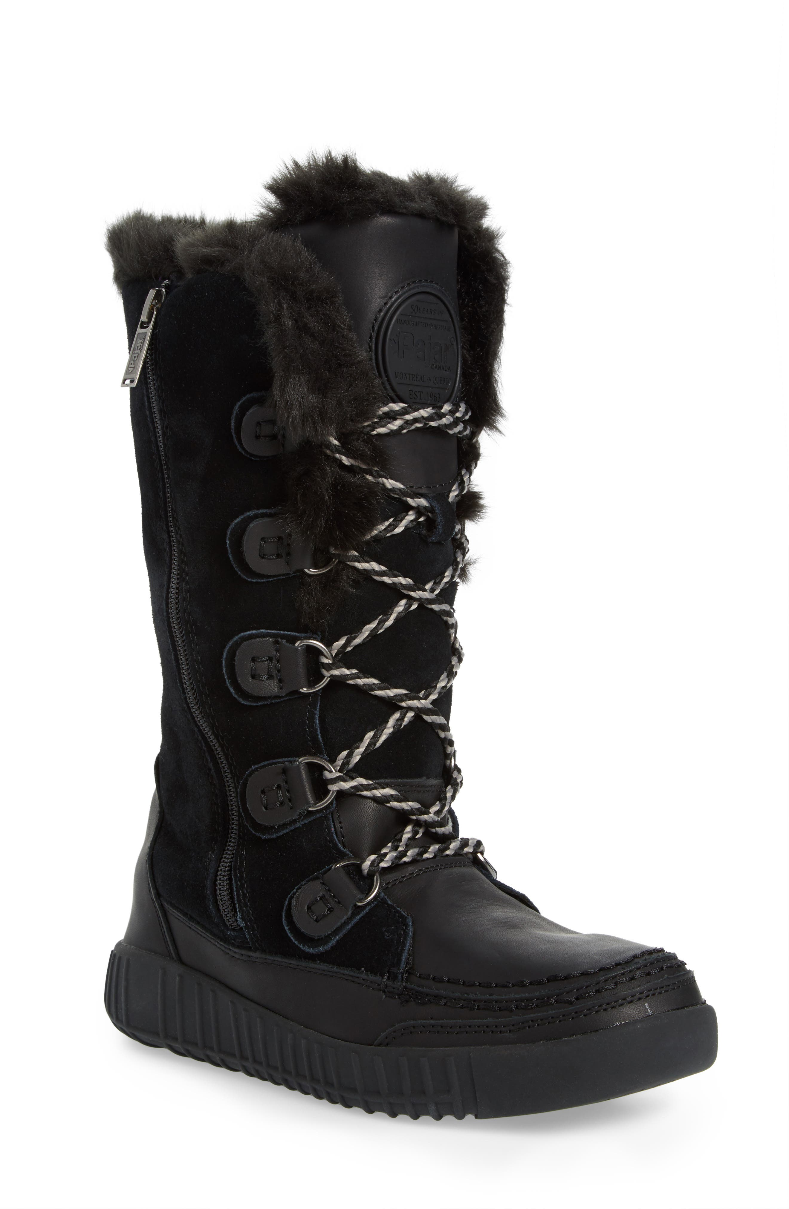 Paityn Waterproof Boot,                             Main thumbnail 1, color,                             Black