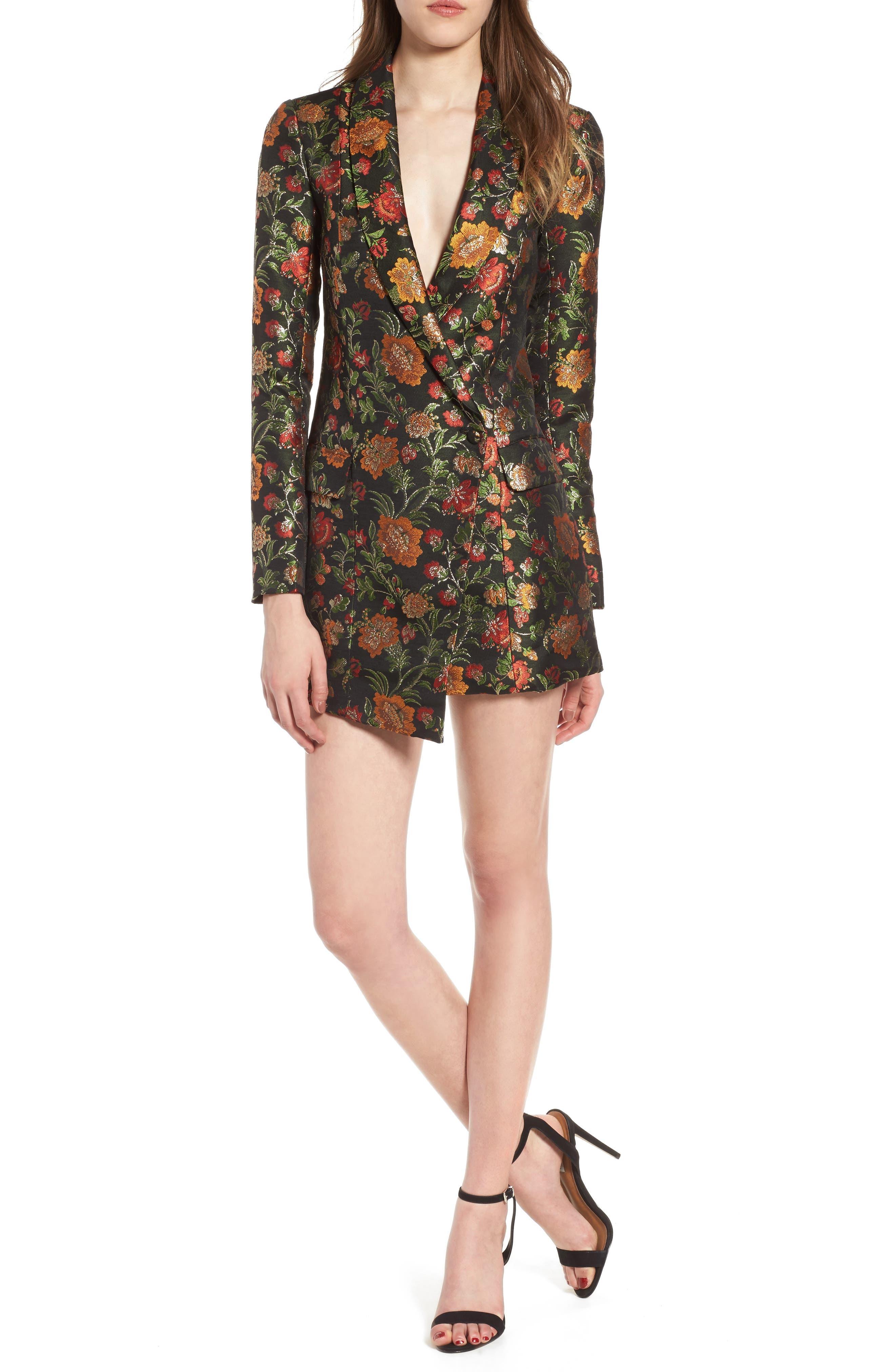 Ally Minidress,                         Main,                         color, Black Floral