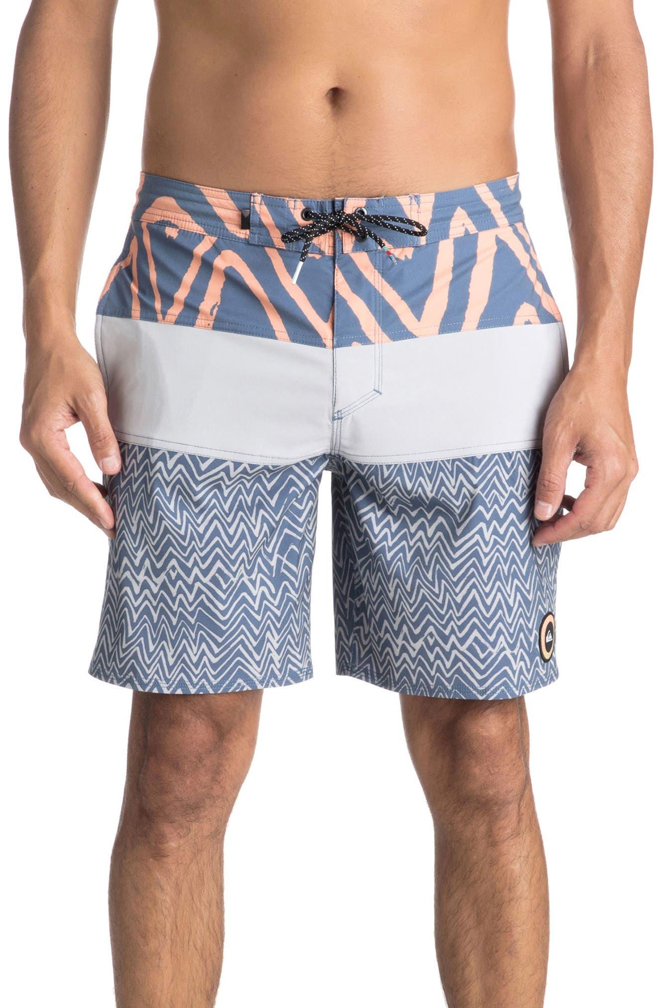 TechTonic Board Shorts,                             Main thumbnail 1, color,                             Silver Sconce