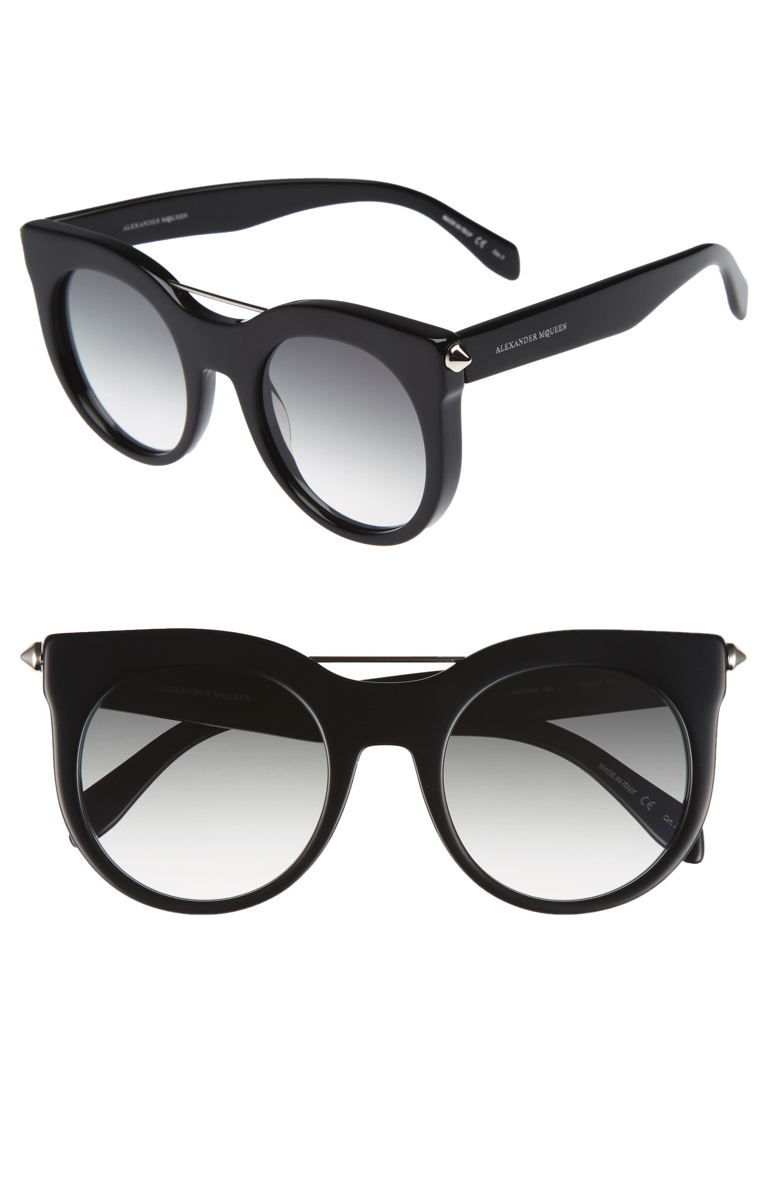 Alexander McQueen 52mm Cat Eye Sunglasses