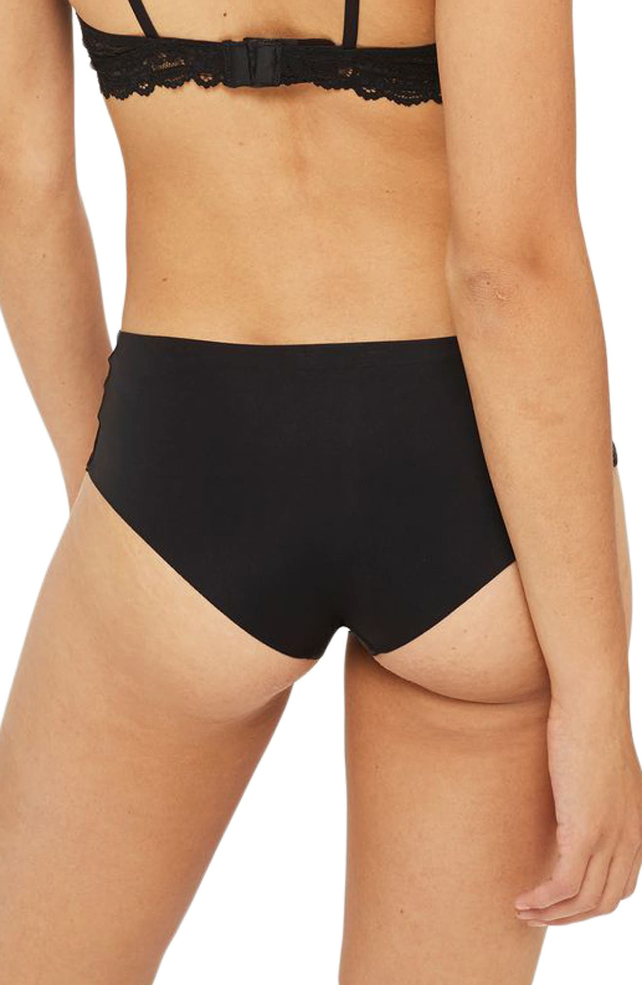 No VPL Panties,                             Alternate thumbnail 2, color,                             Black