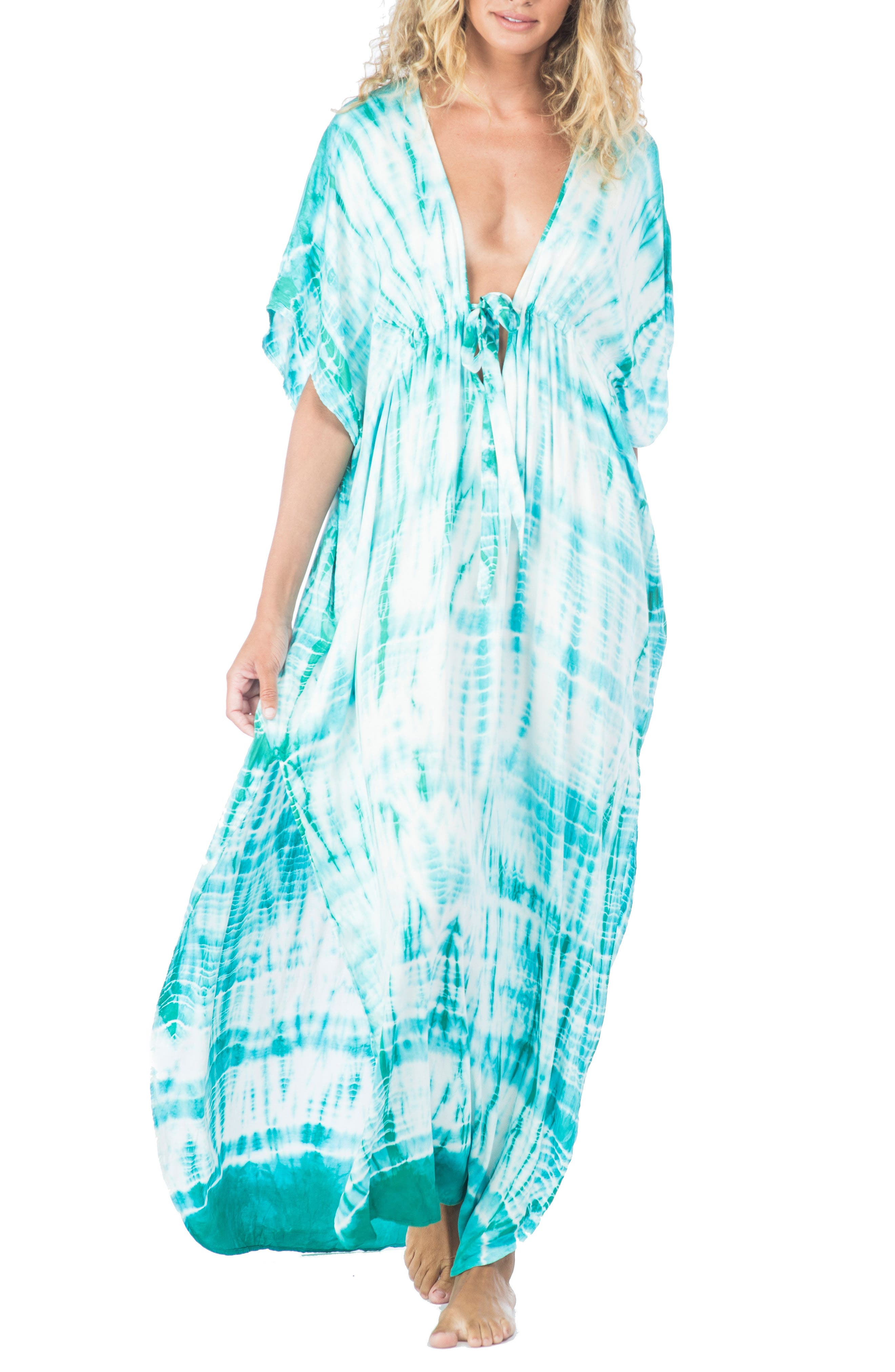 Green Dragon South Beach Tie Dye Ashley Cover-Up Dress