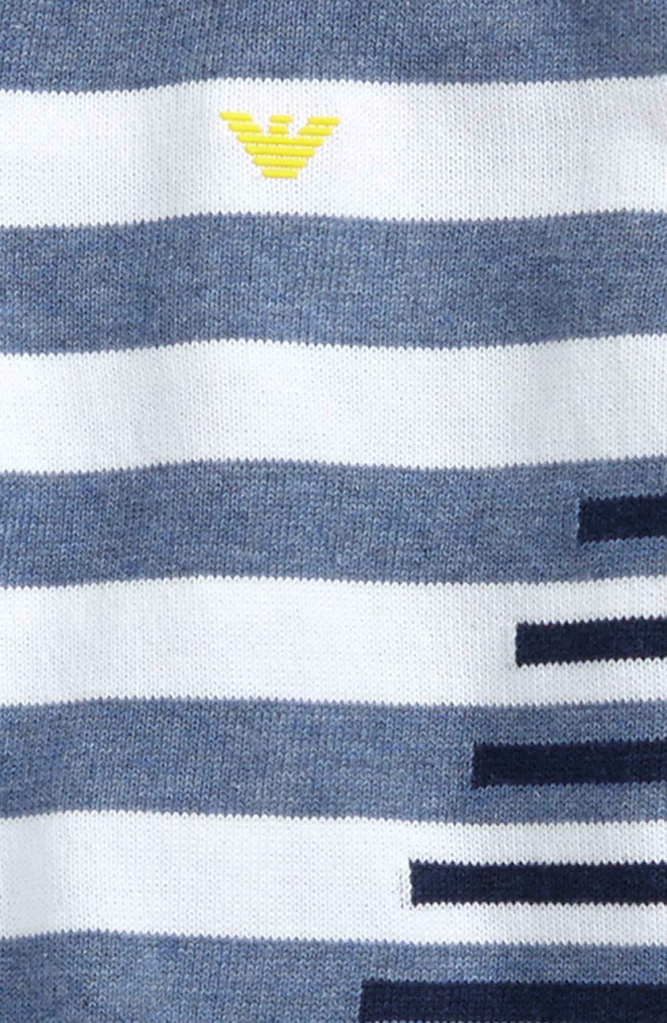 Stripe Cotton Sweater,                             Alternate thumbnail 2, color,                             Blue/ White