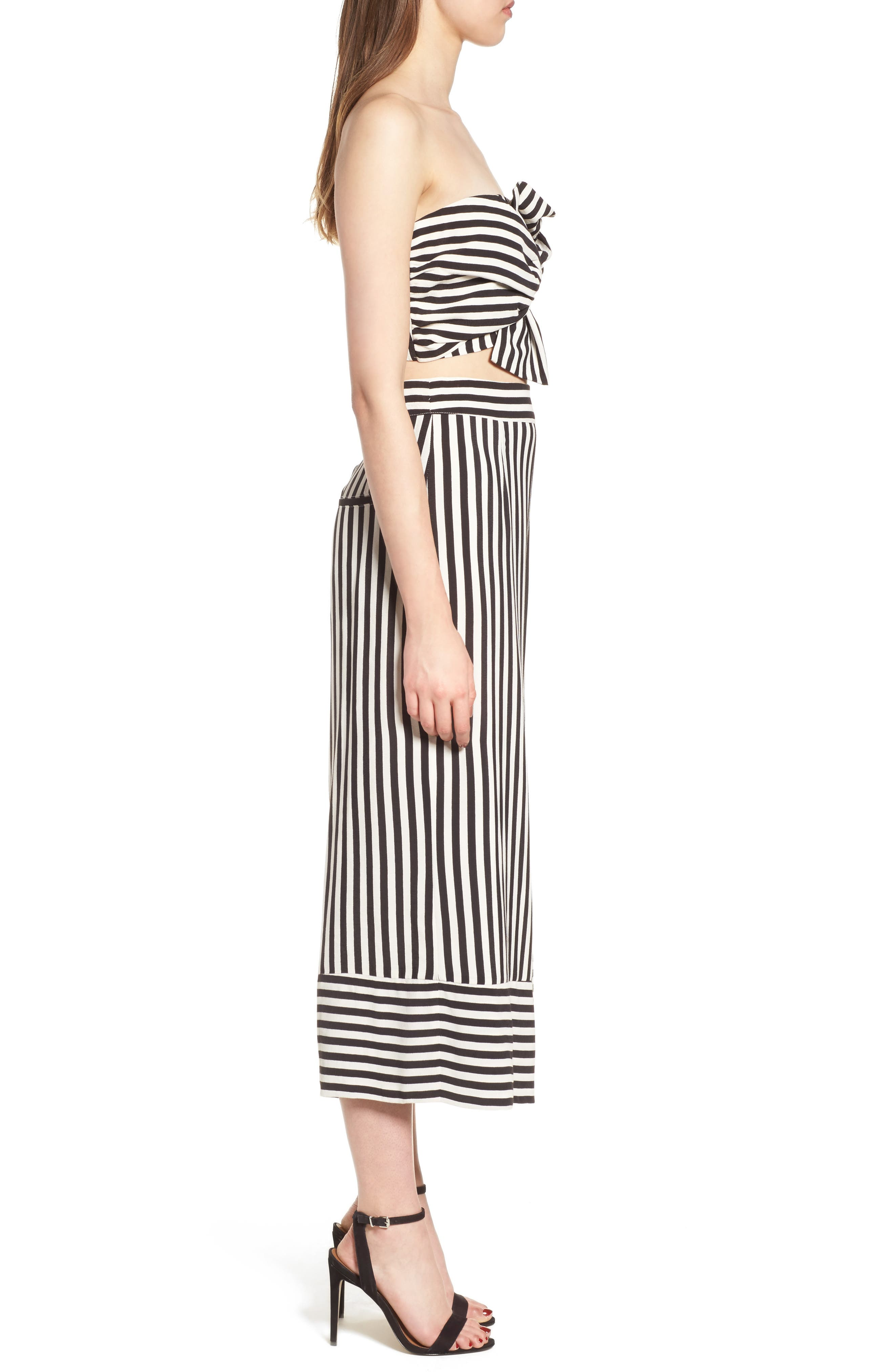 Chica Crop Pants,                             Alternate thumbnail 4, color,                             Bold Stripe