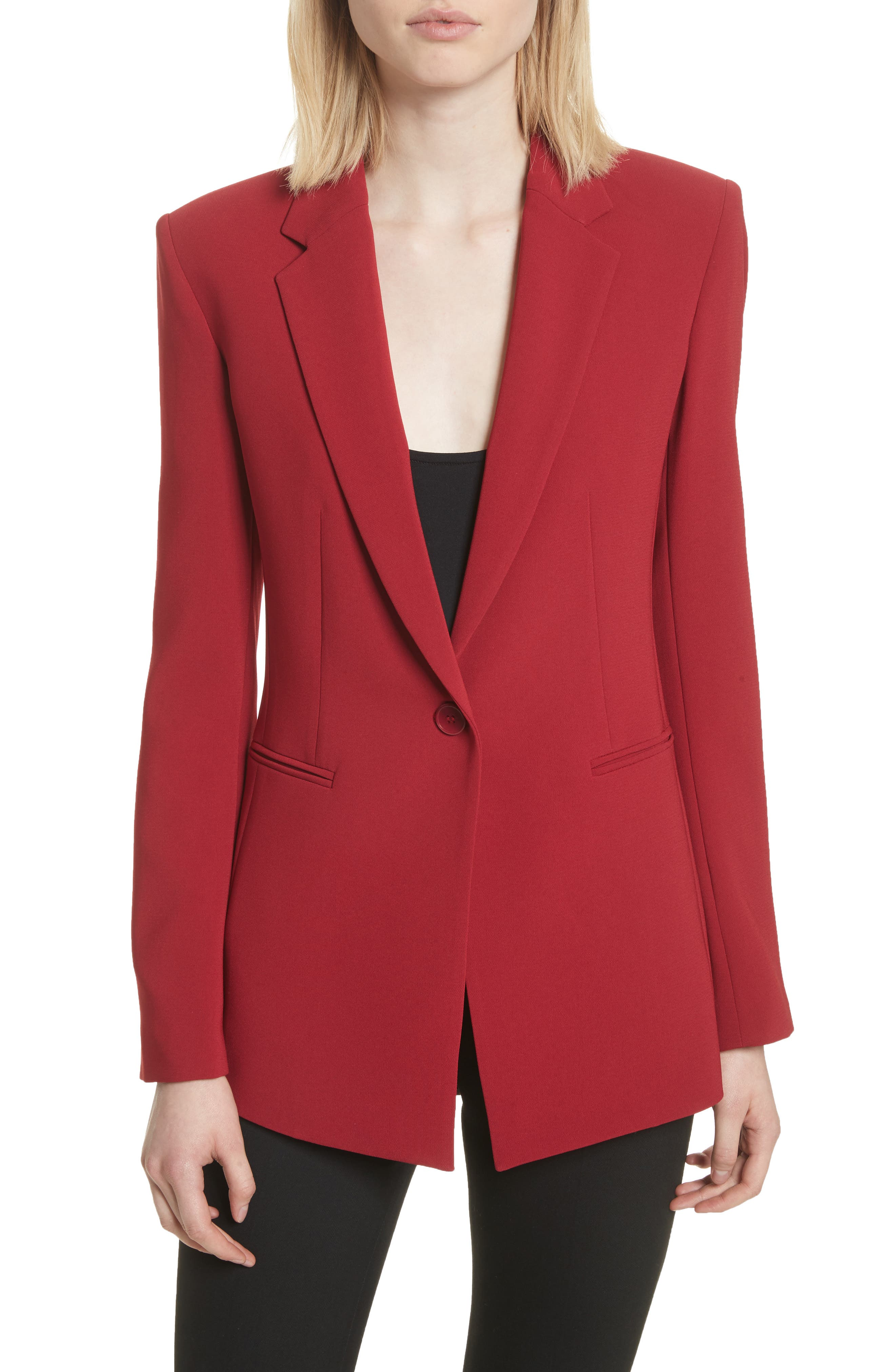 Admiral Crepe Power Jacket,                         Main,                         color, Bright Raspberry