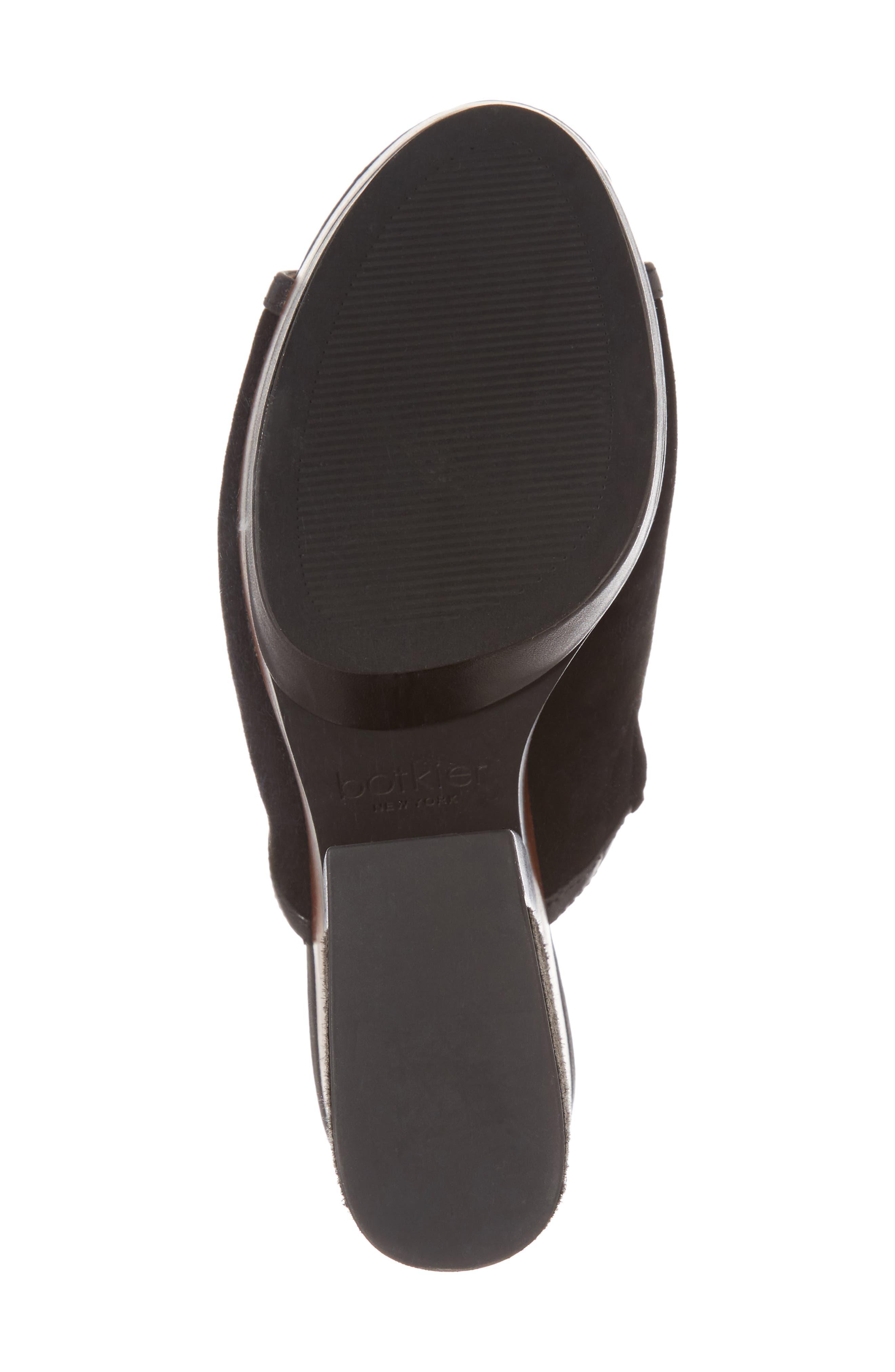 Platform Sandal,                             Alternate thumbnail 6, color,                             Black Suede