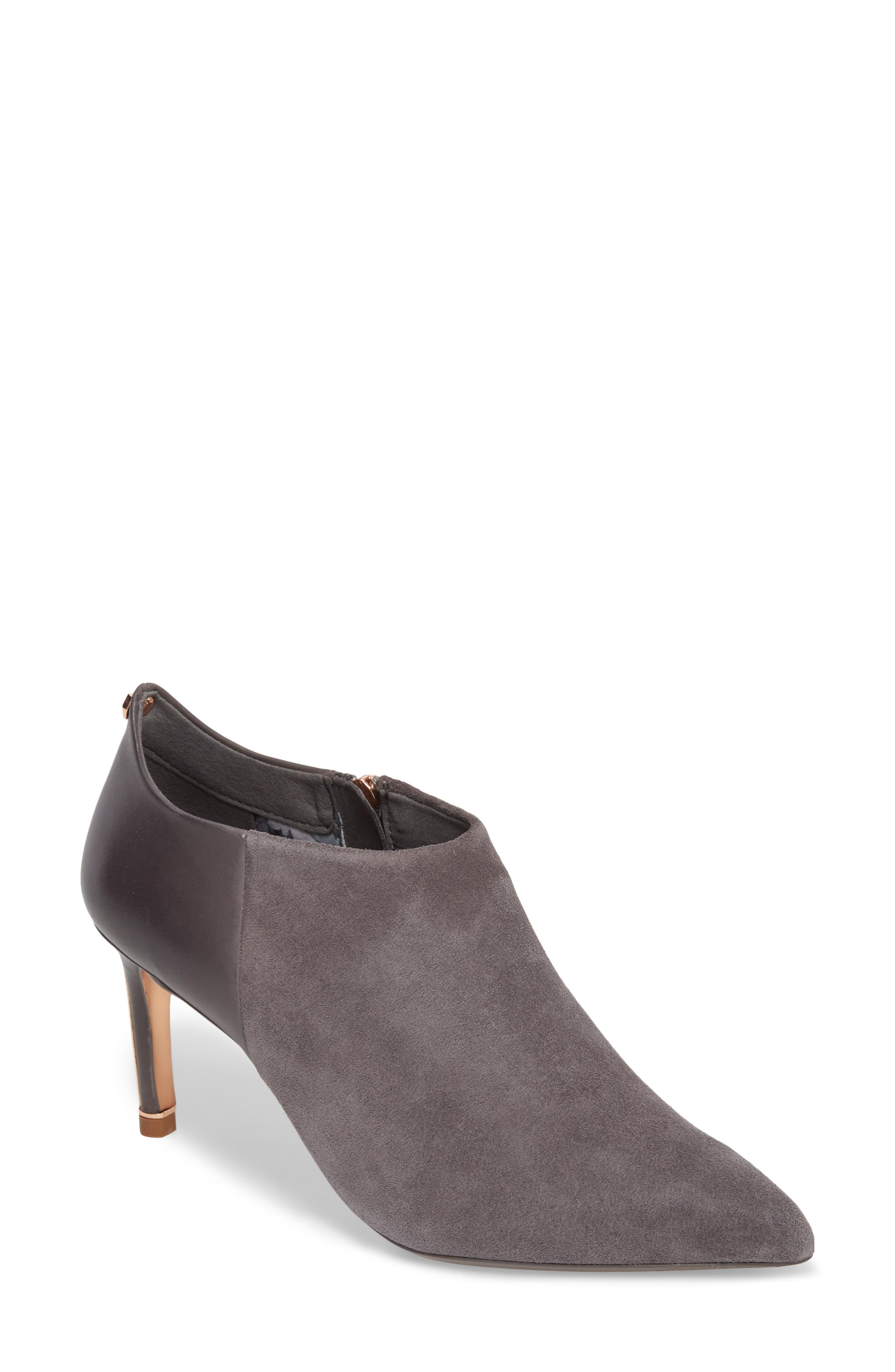 Akasher Bootie,                         Main,                         color, Grey Suede