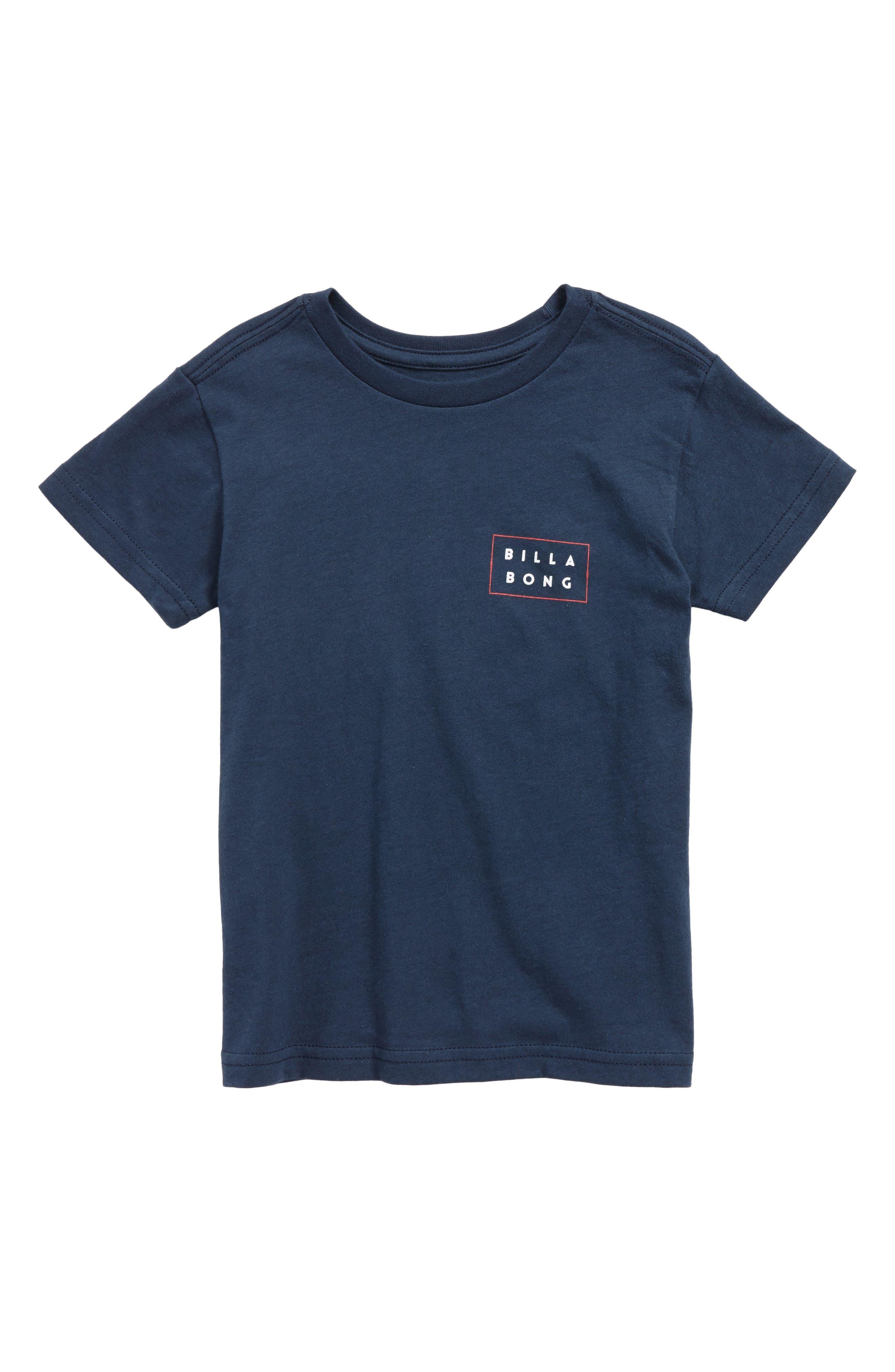 Fill Die Cut T-Shirt,                         Main,                         color, Navy
