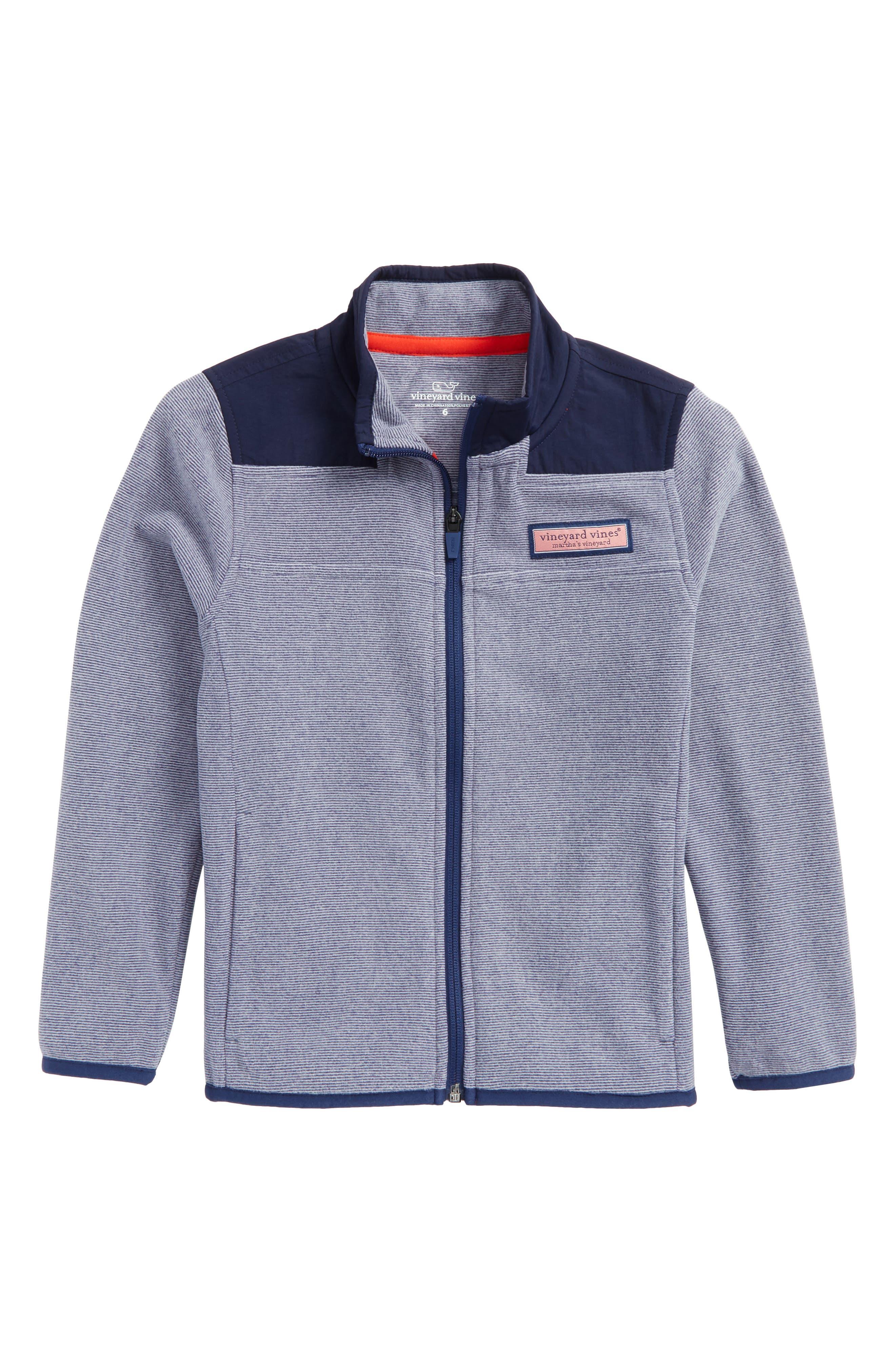 End on End Pinstripe Zip Jacket,                         Main,                         color, Deep Bay
