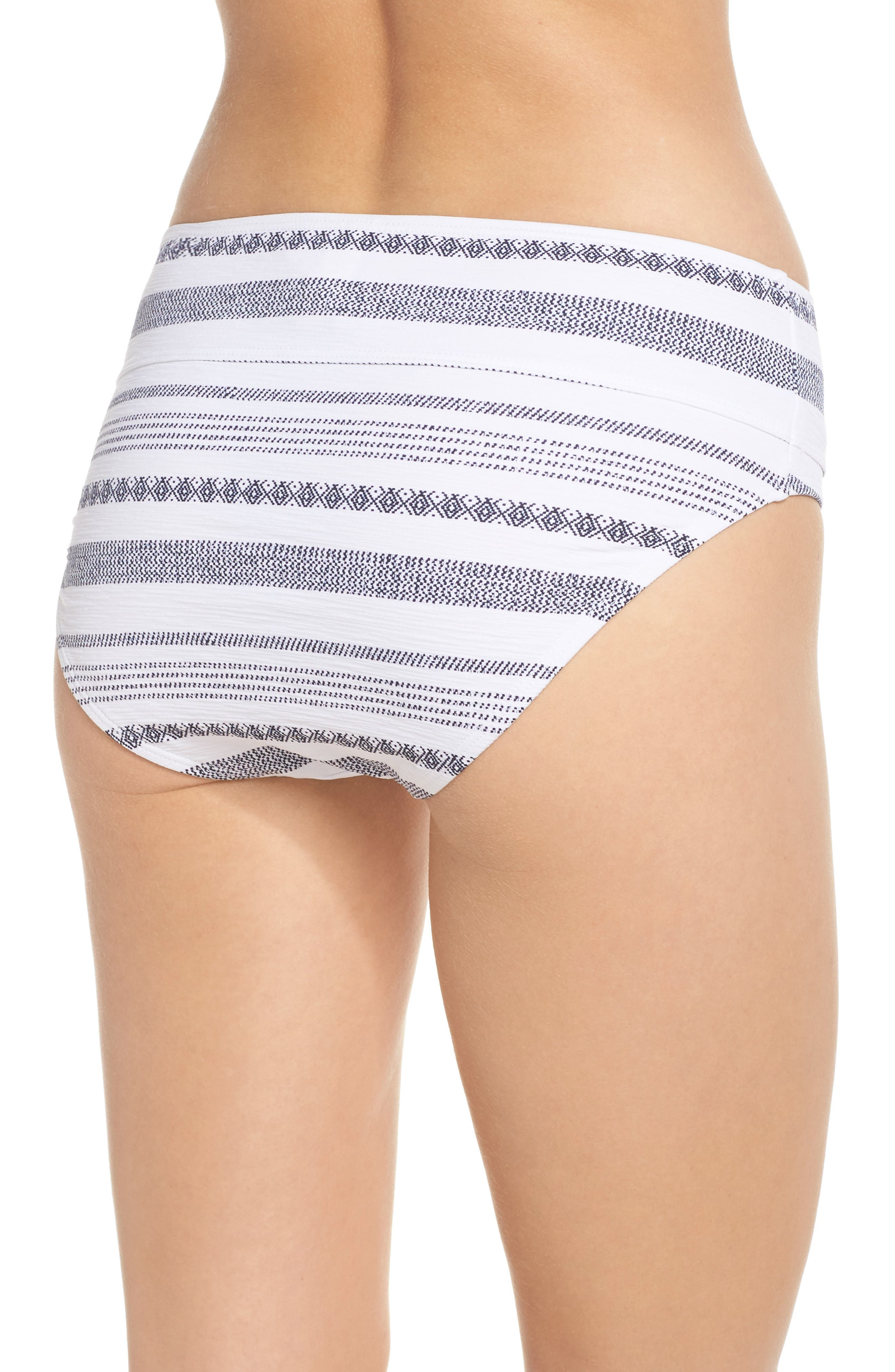 Sand Bar High Waist Bikini Bottoms,                             Alternate thumbnail 2, color,                             White