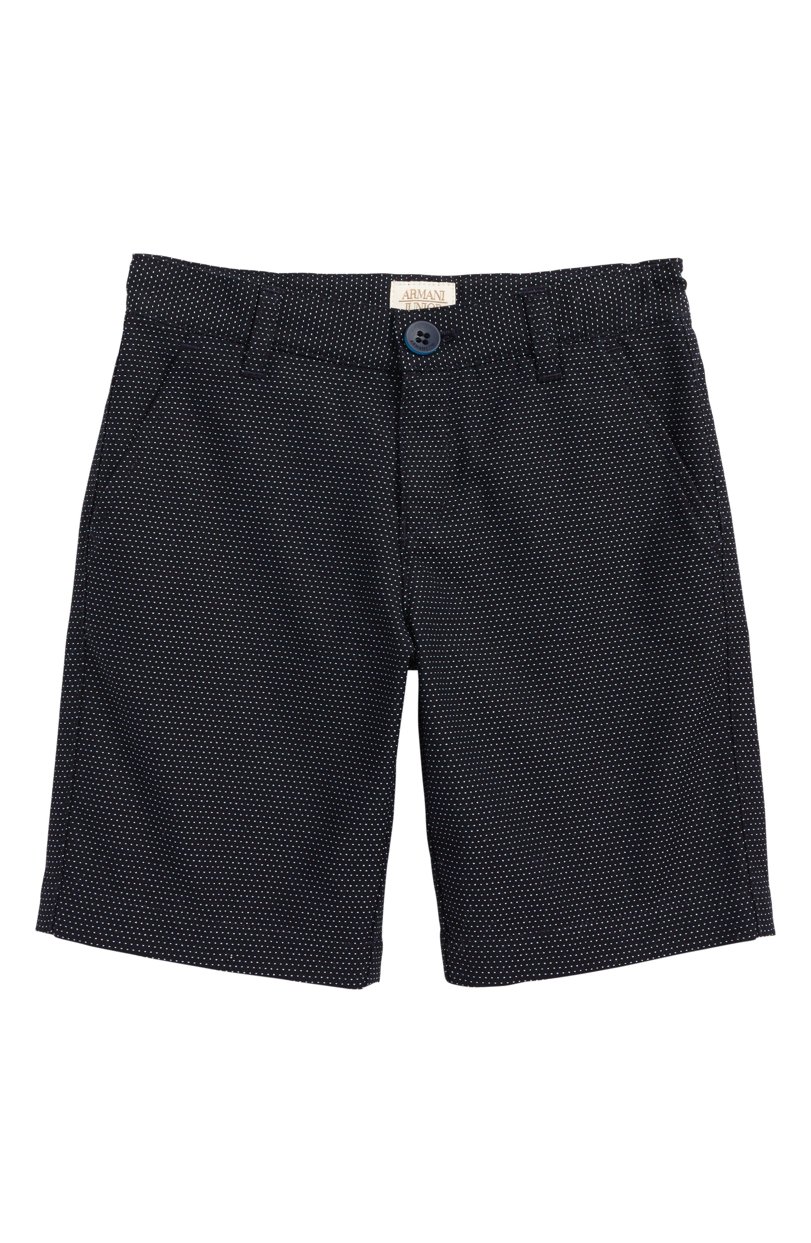 Microdot Shorts,                         Main,                         color, Dark Blue