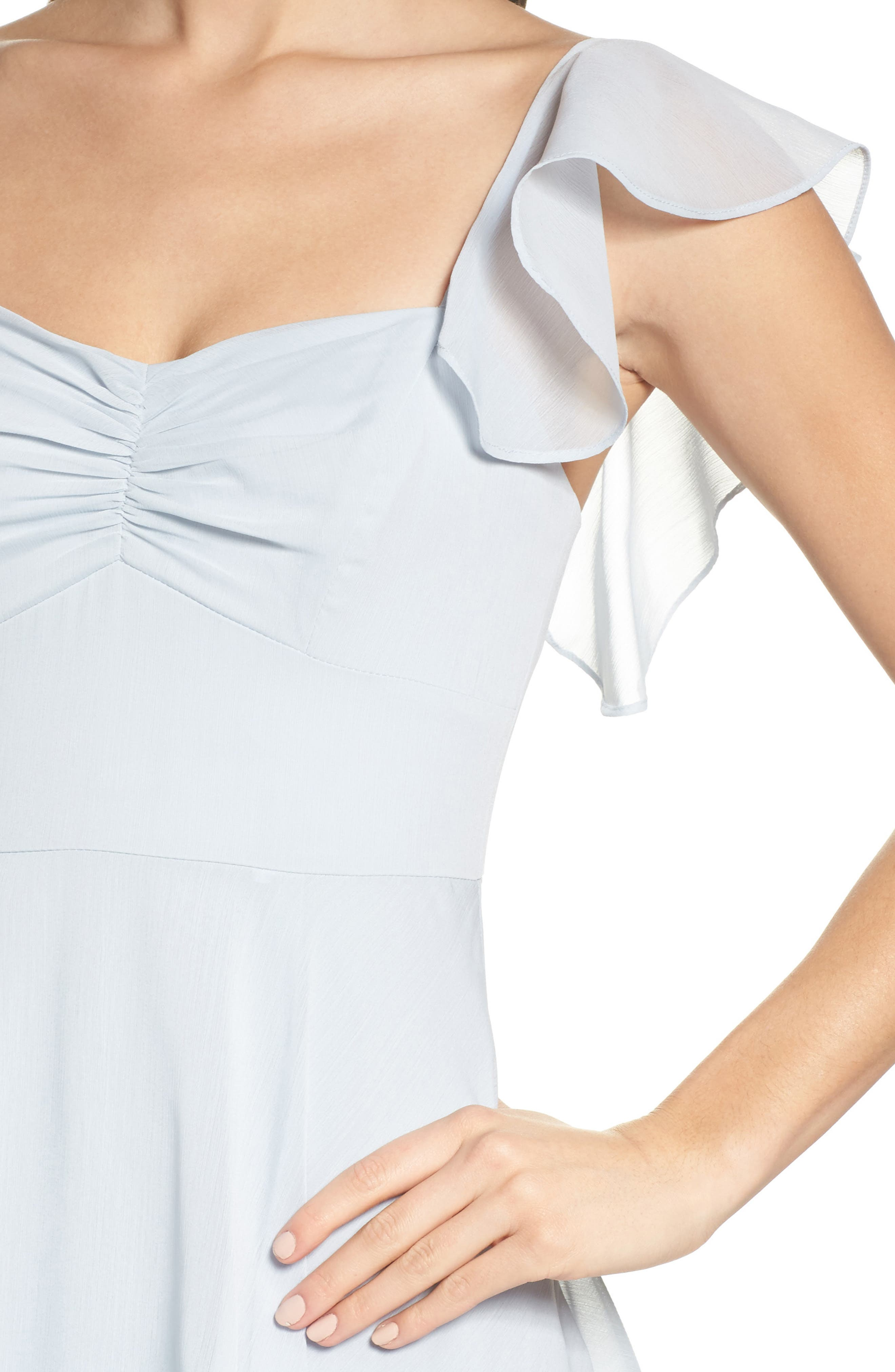 Abby Off the Shoulder Tiered Dress,                             Alternate thumbnail 4, color,                             Ocean Mist