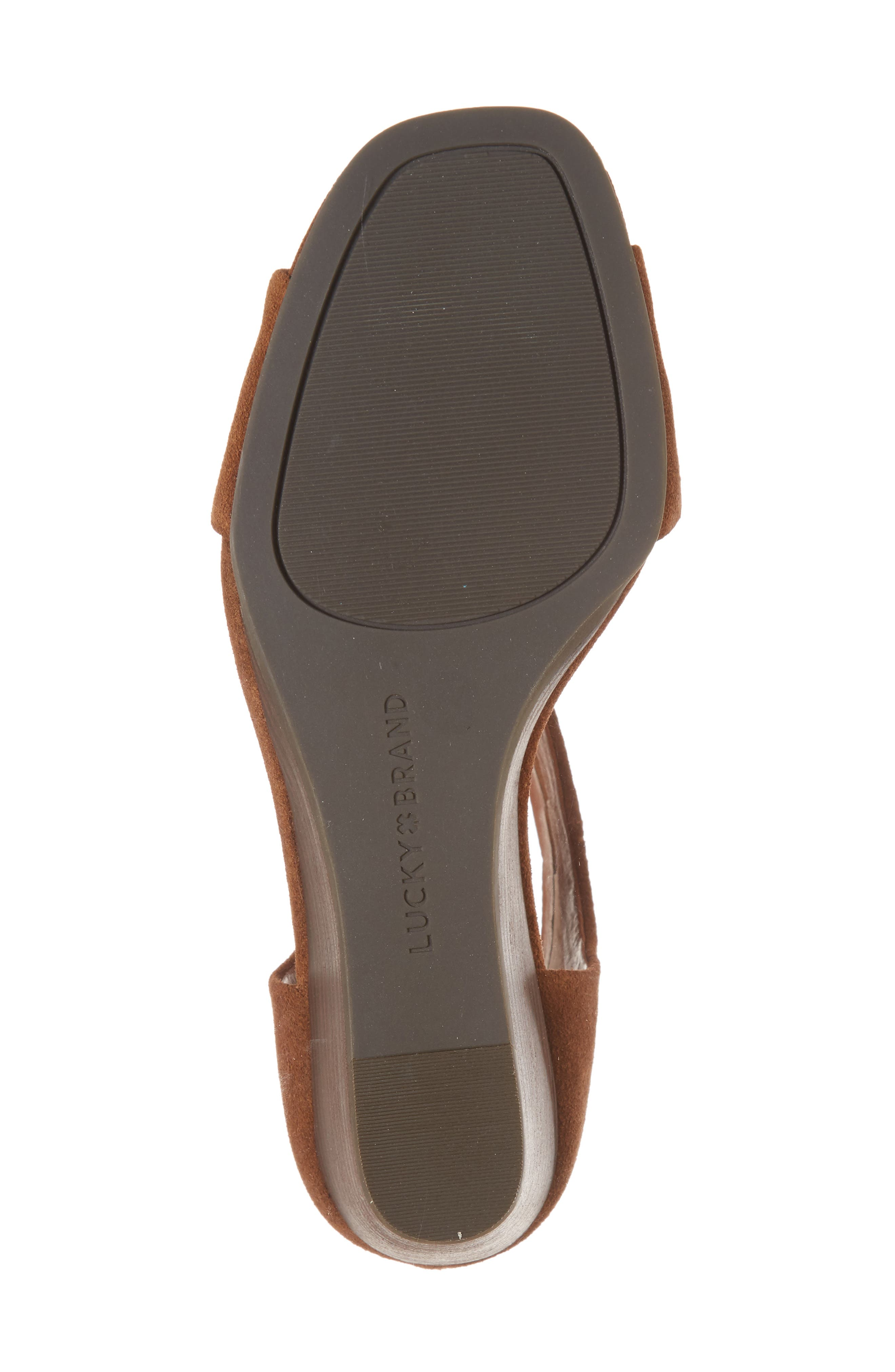 Tehirr Wedge Sandal,                             Alternate thumbnail 6, color,                             Cedar Suede