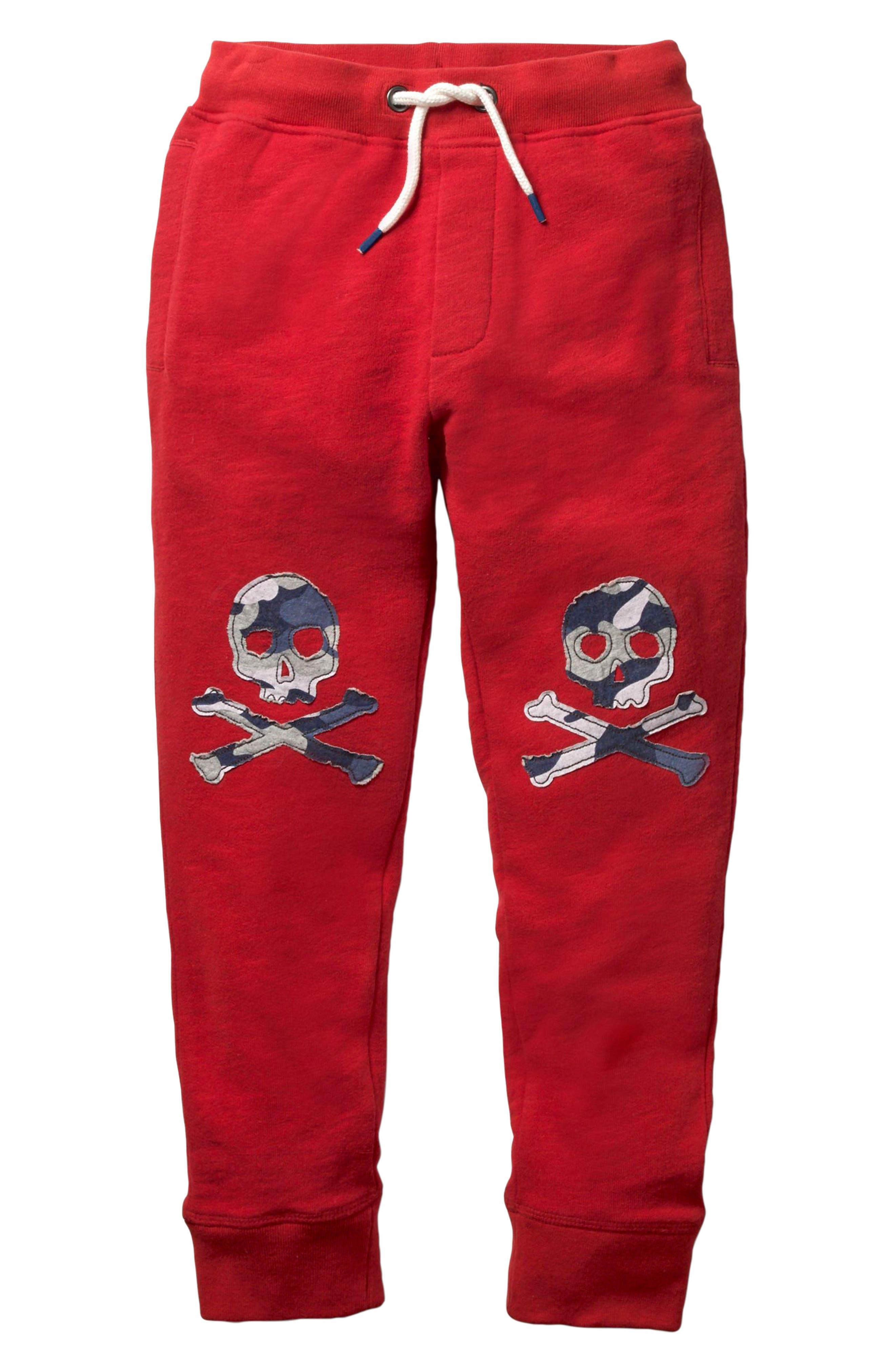 Appliqué Jogger Pants,                         Main,                         color, Engine Red Skulls