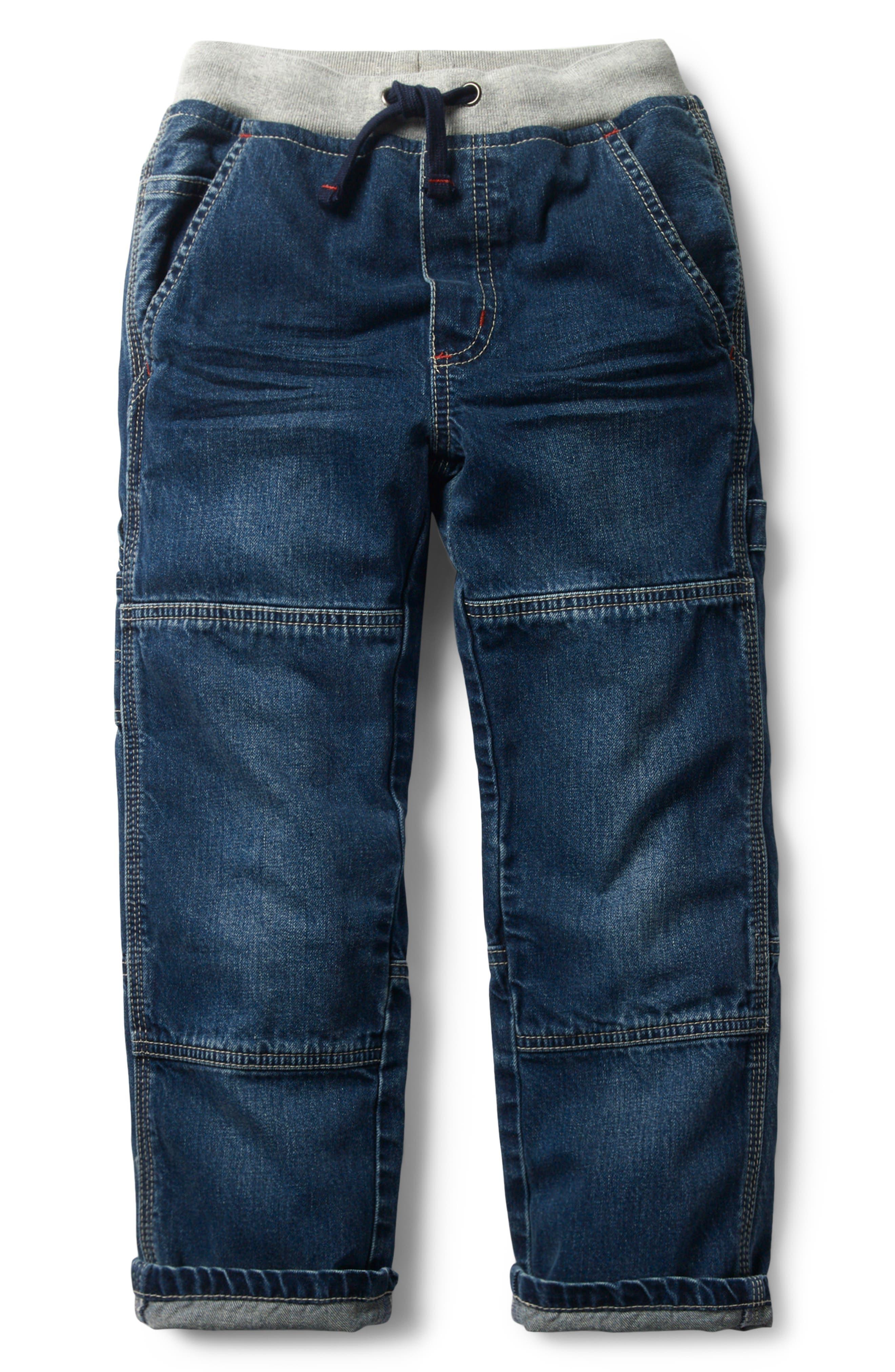 Rib Waist Carpenter Jeans,                         Main,                         color, Mid Vintage