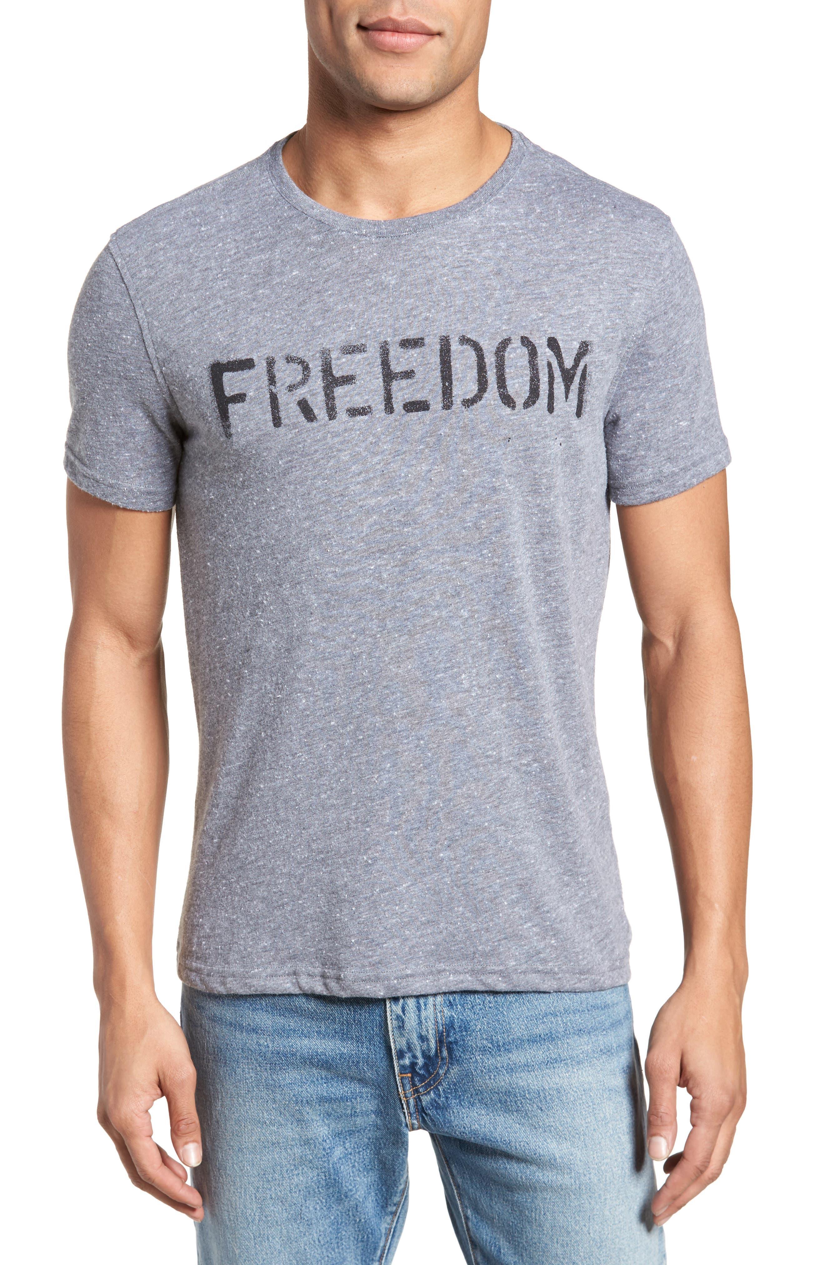 Freedom Graphic T-Shirt,                             Main thumbnail 1, color,                             Hematite