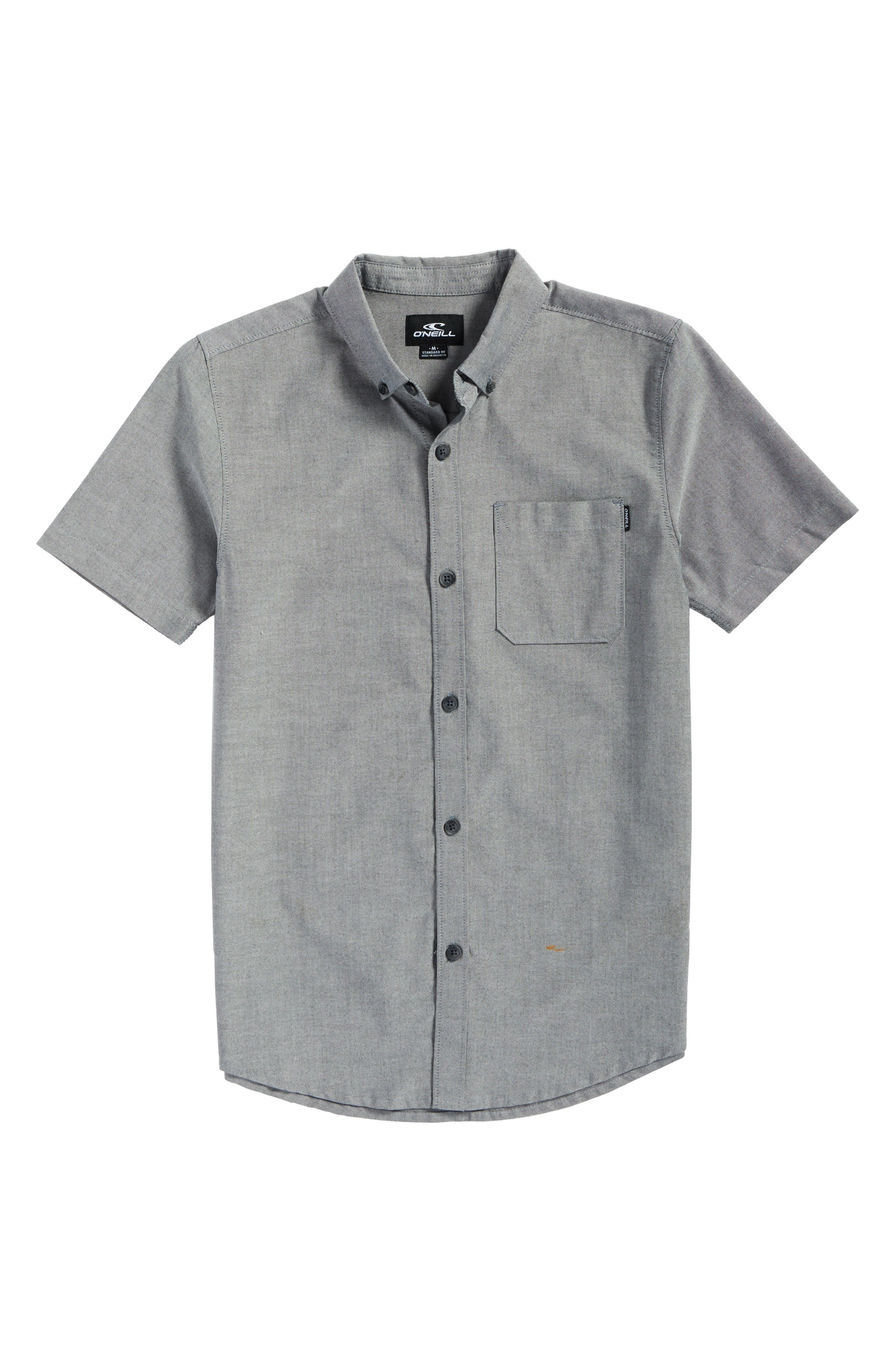 Bank Woven Shirt,                         Main,                         color, Black