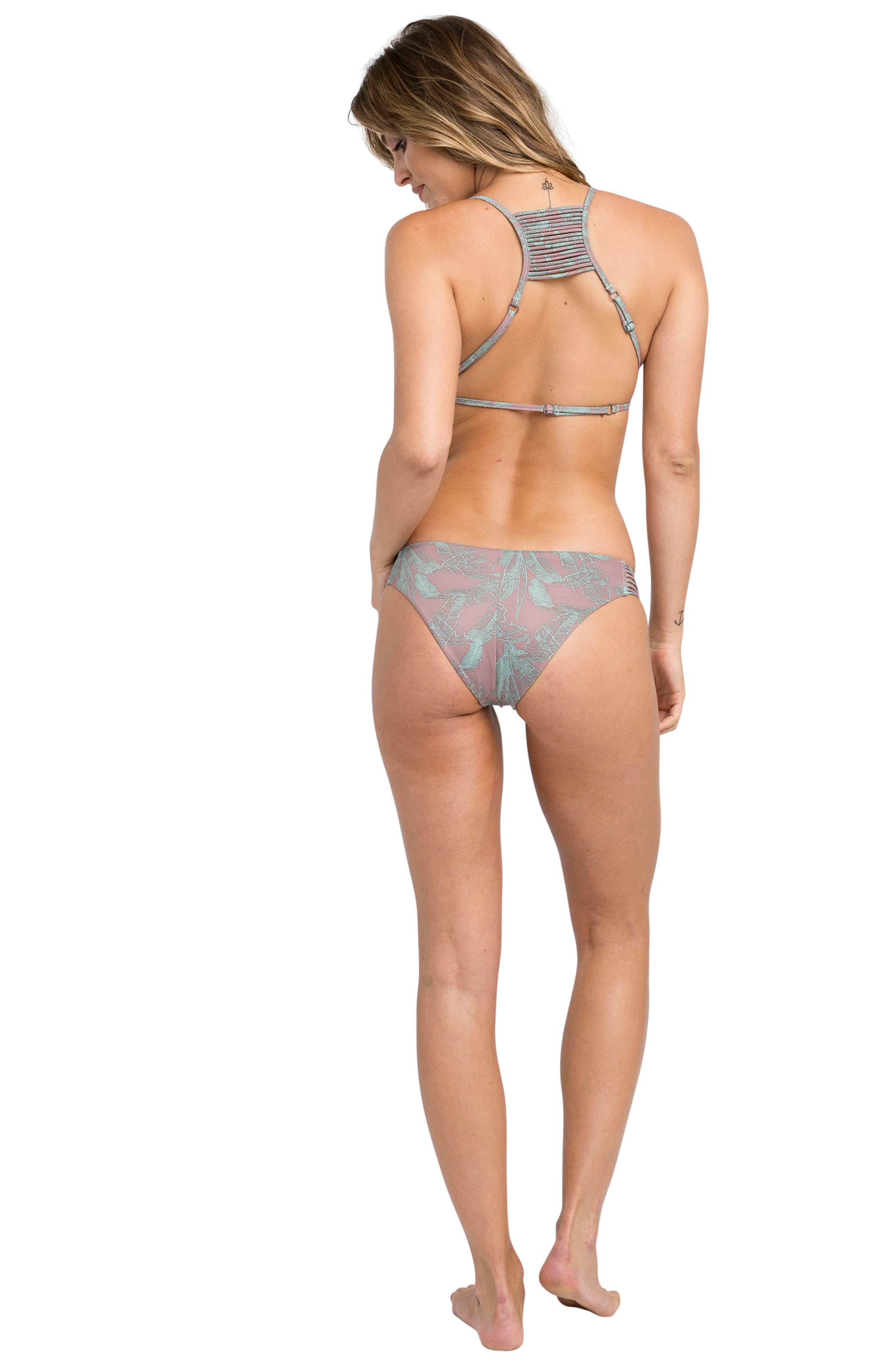 Palmer Triangle Bikini Top,                             Alternate thumbnail 4, color,                             Raisin