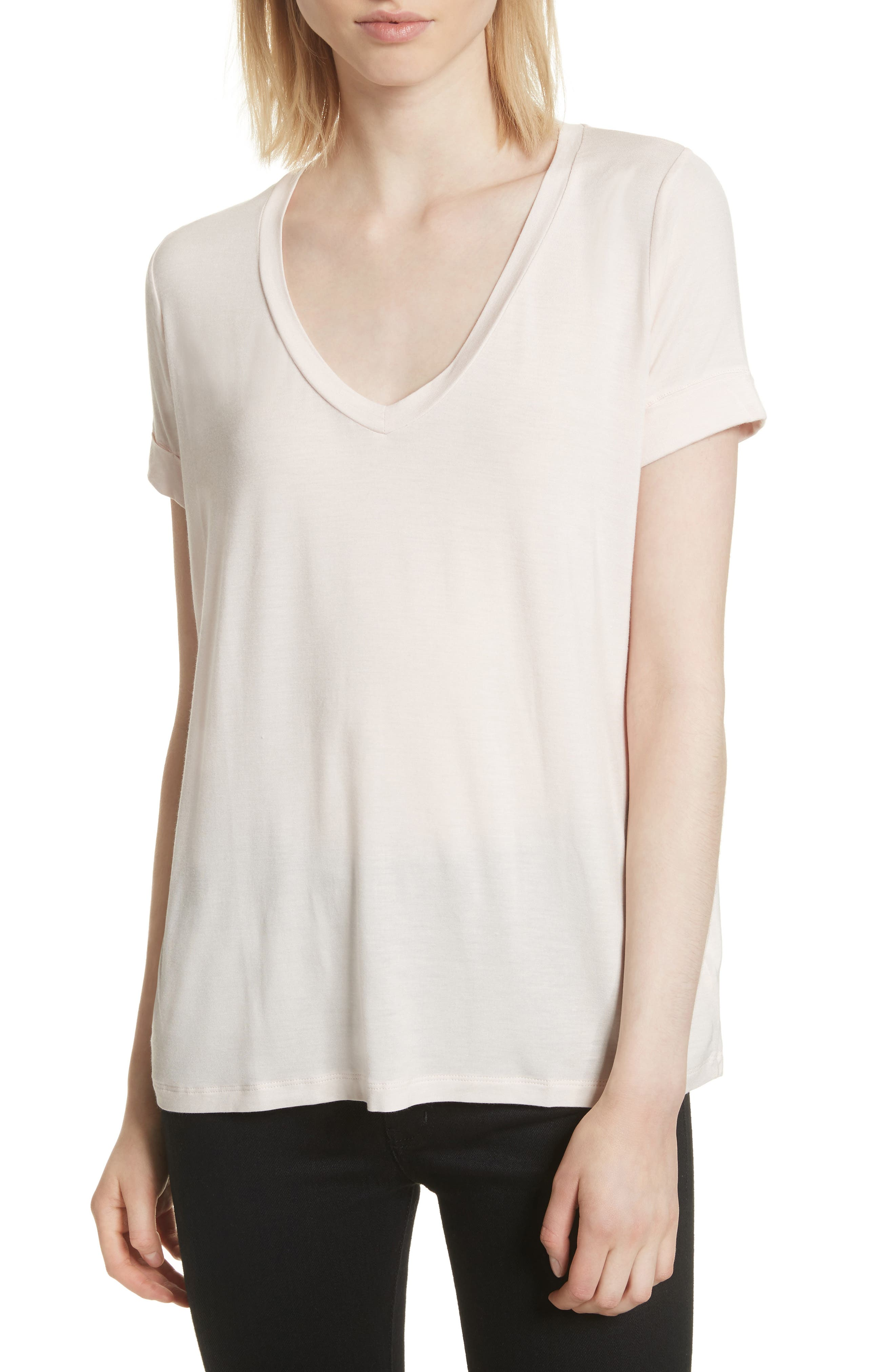 V-Neck Swing Tee,                             Main thumbnail 1, color,                             Petale