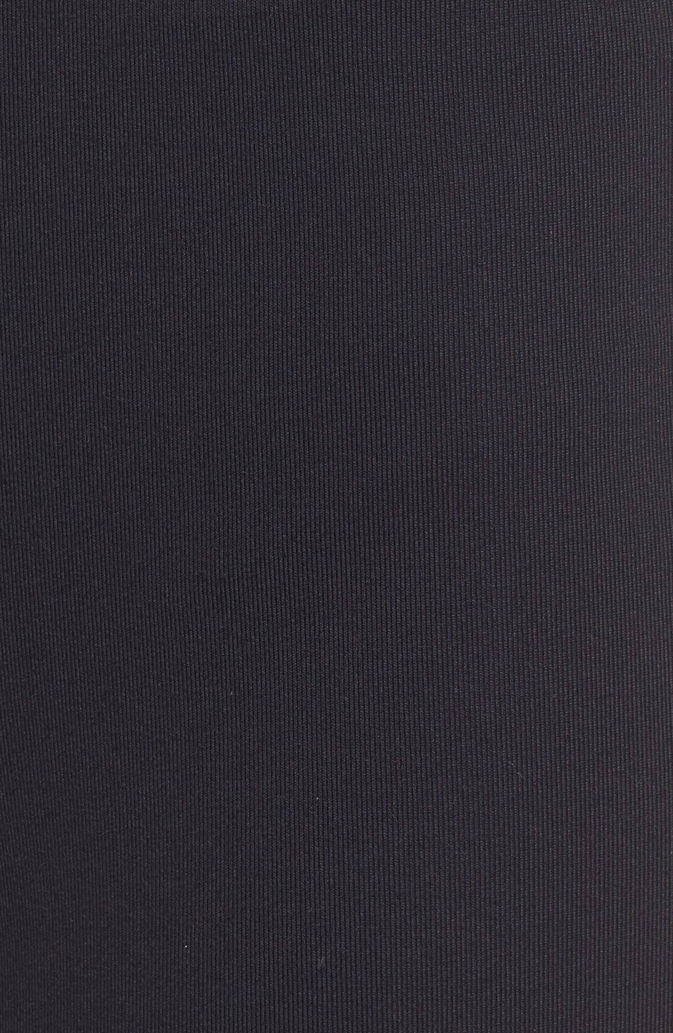 Stripe High Waist Ankle Leggings,                             Alternate thumbnail 5, color,                             Black