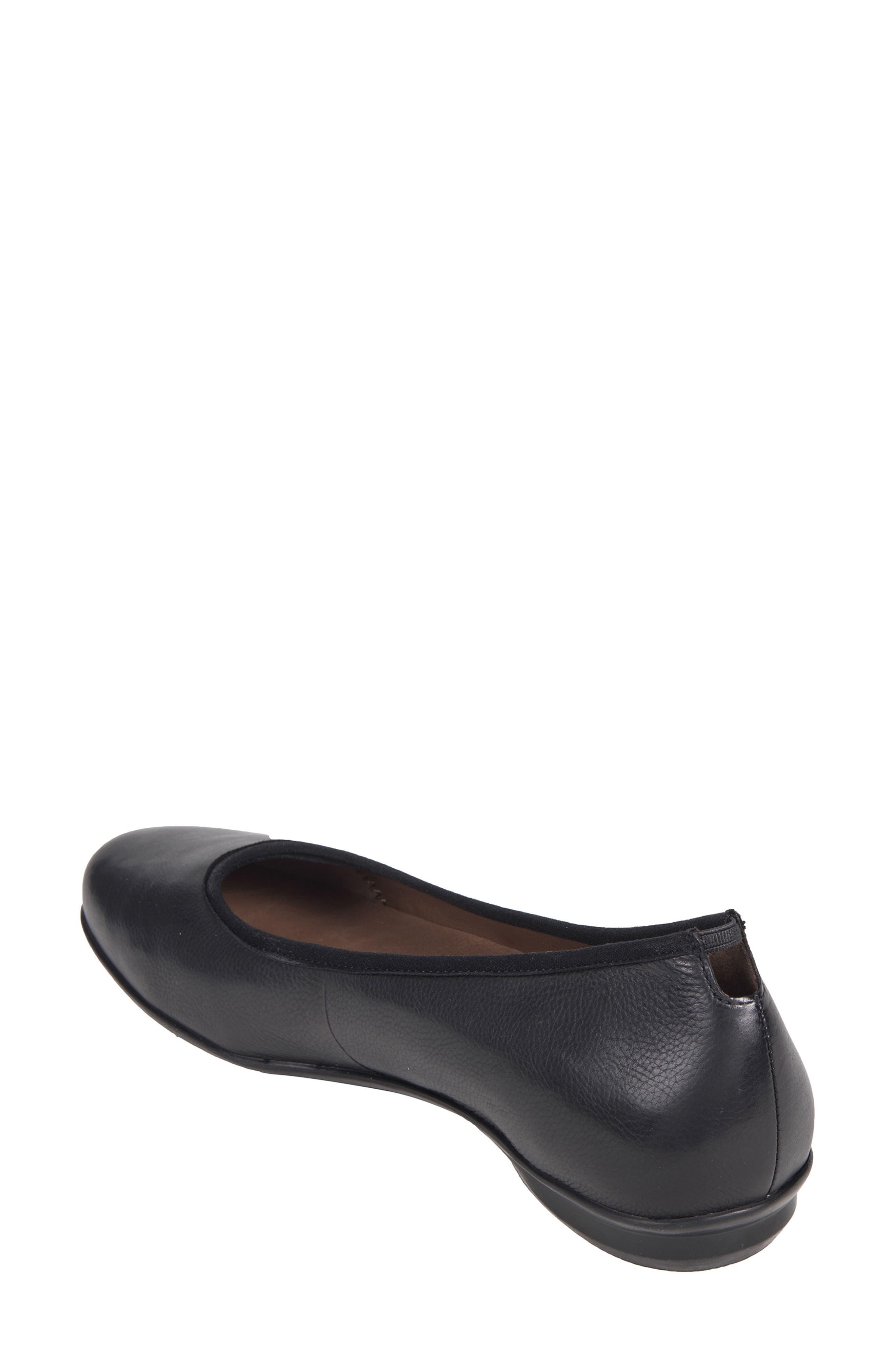 Ennis Flat,                             Alternate thumbnail 2, color,                             Black Leather