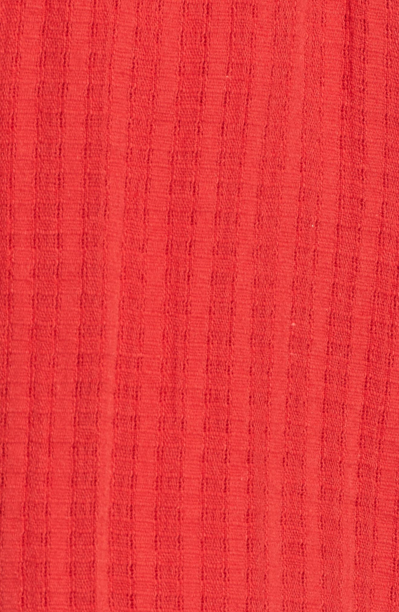 Pompom Trim Shorts,                             Alternate thumbnail 6, color,                             Red
