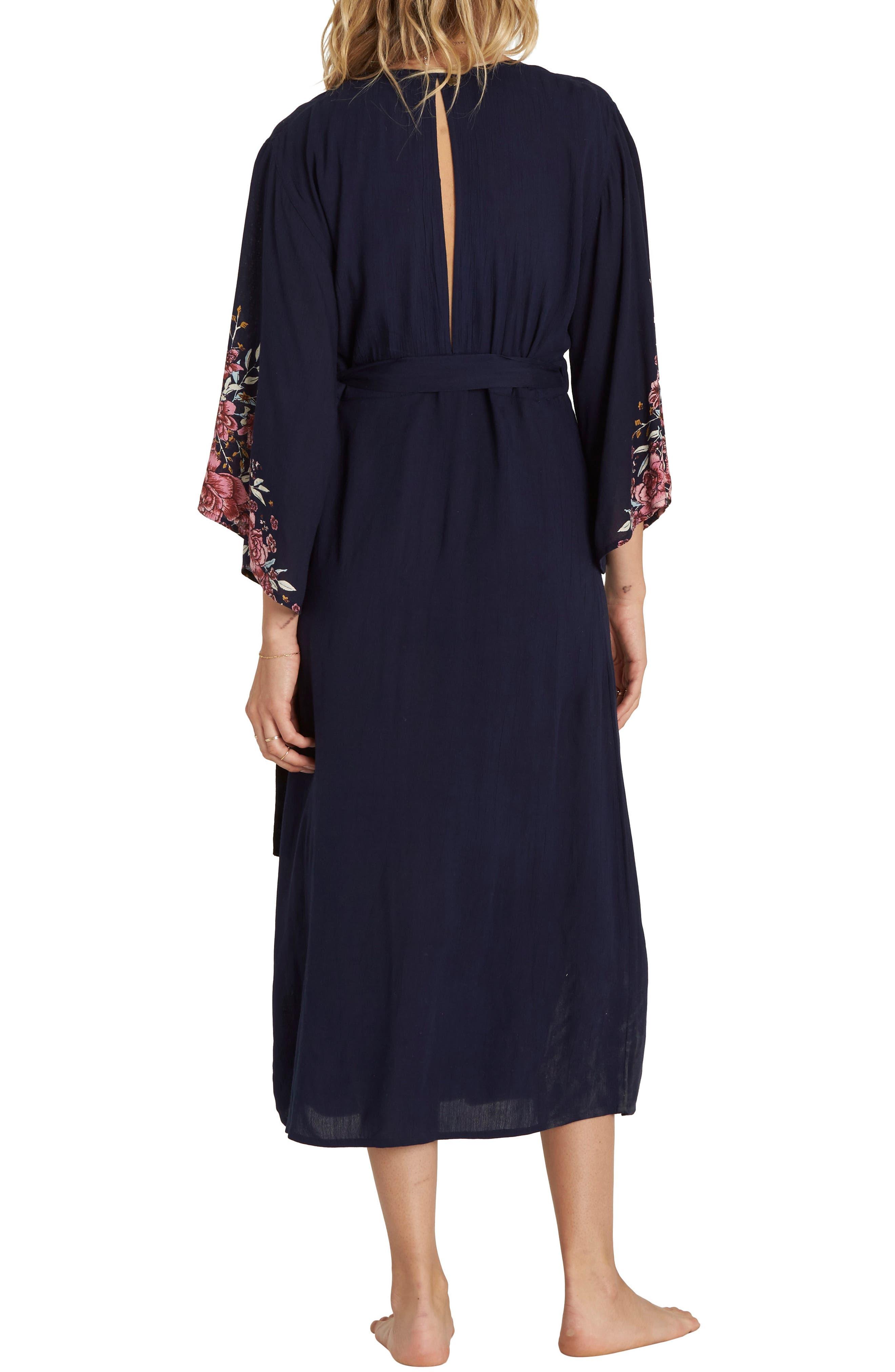 Robe Life Midi Dress,                             Alternate thumbnail 2, color,                             Deep Sea