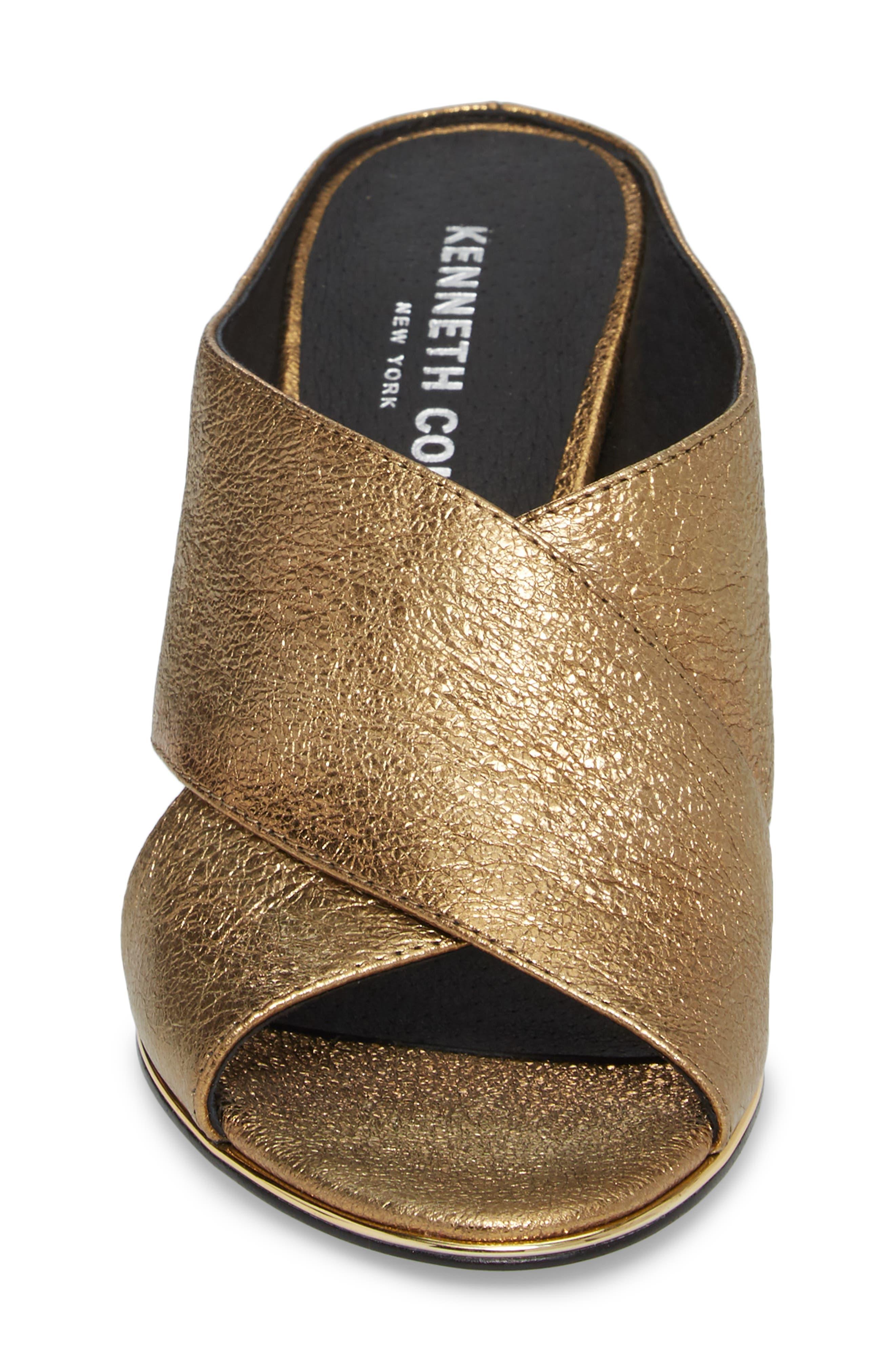 Lyra Sandal,                             Alternate thumbnail 4, color,                             Gold Metallic Leather